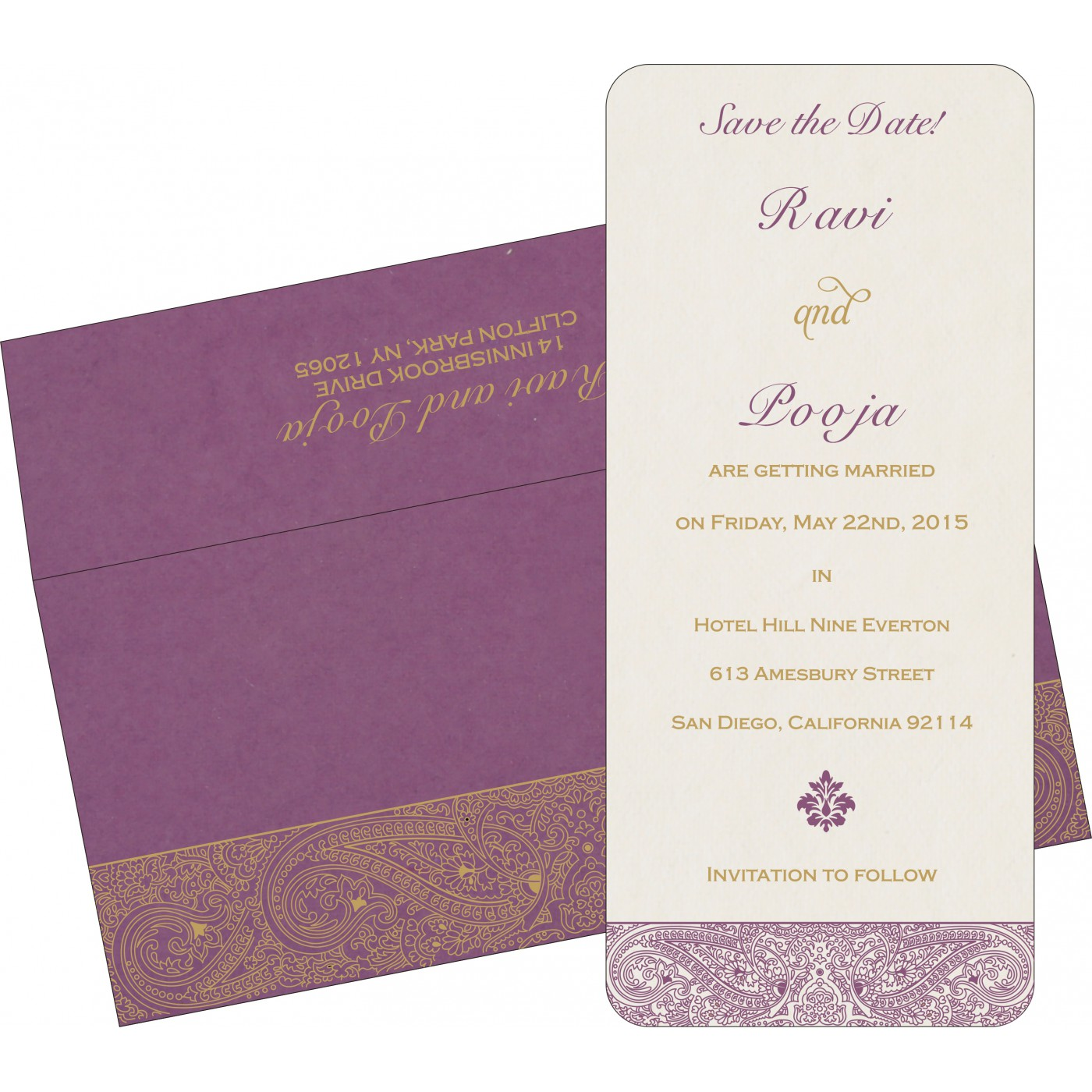 Save The Date Cards : STD-8234D - 123WeddingCards