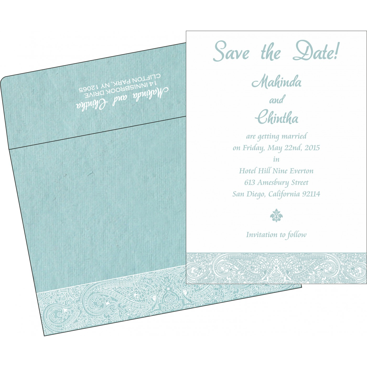Save The Date Cards : STD-8234E - 123WeddingCards