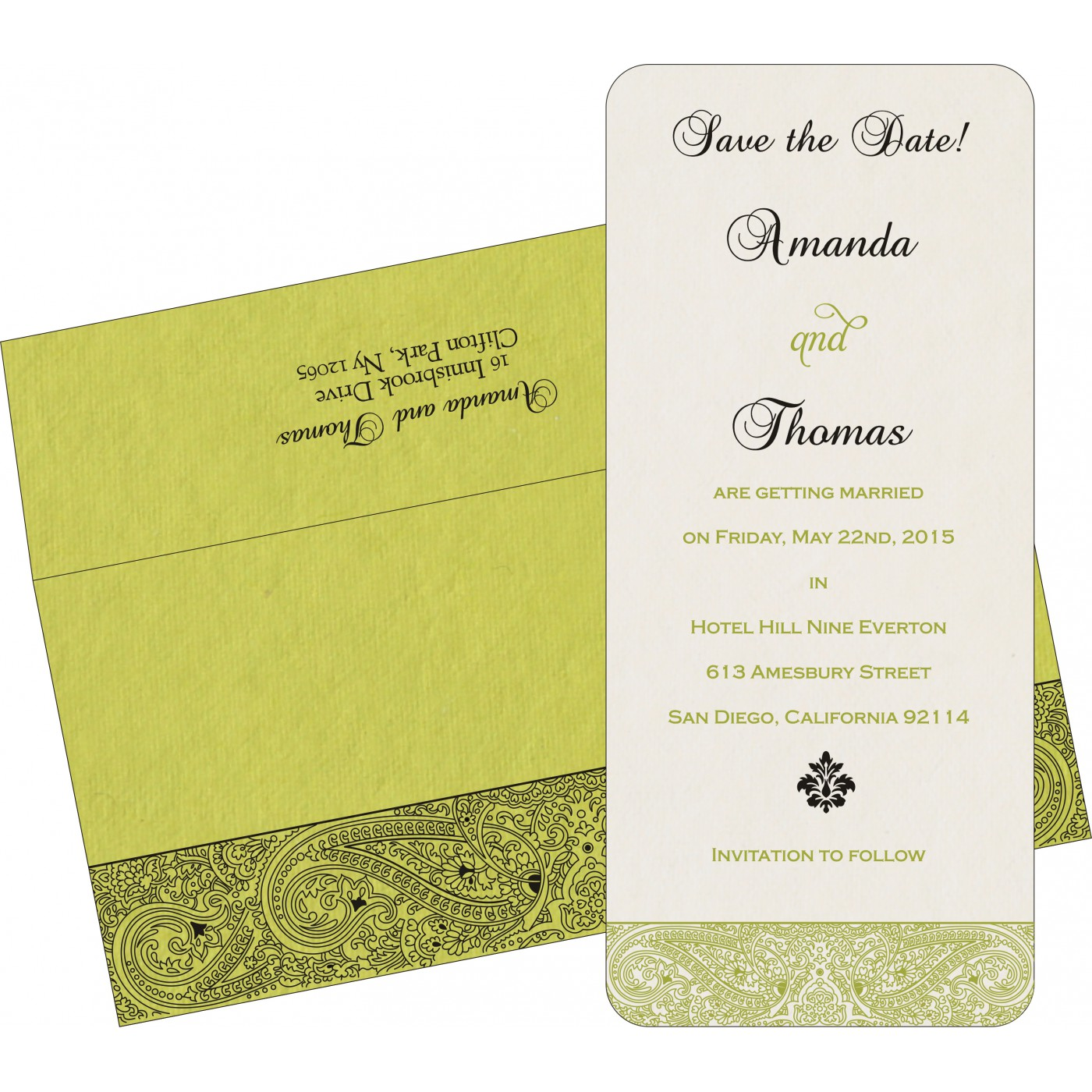 Save The Date Cards : STD-8234H - 123WeddingCards