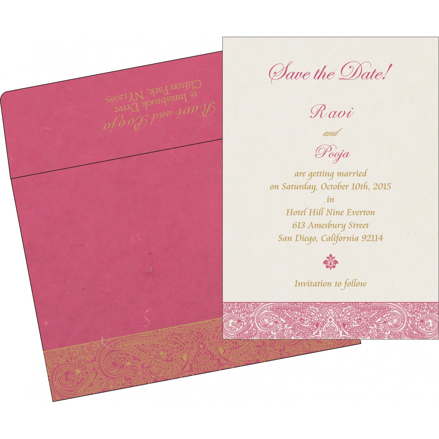 Save The Date Cards : STD-8234I - 123WeddingCards