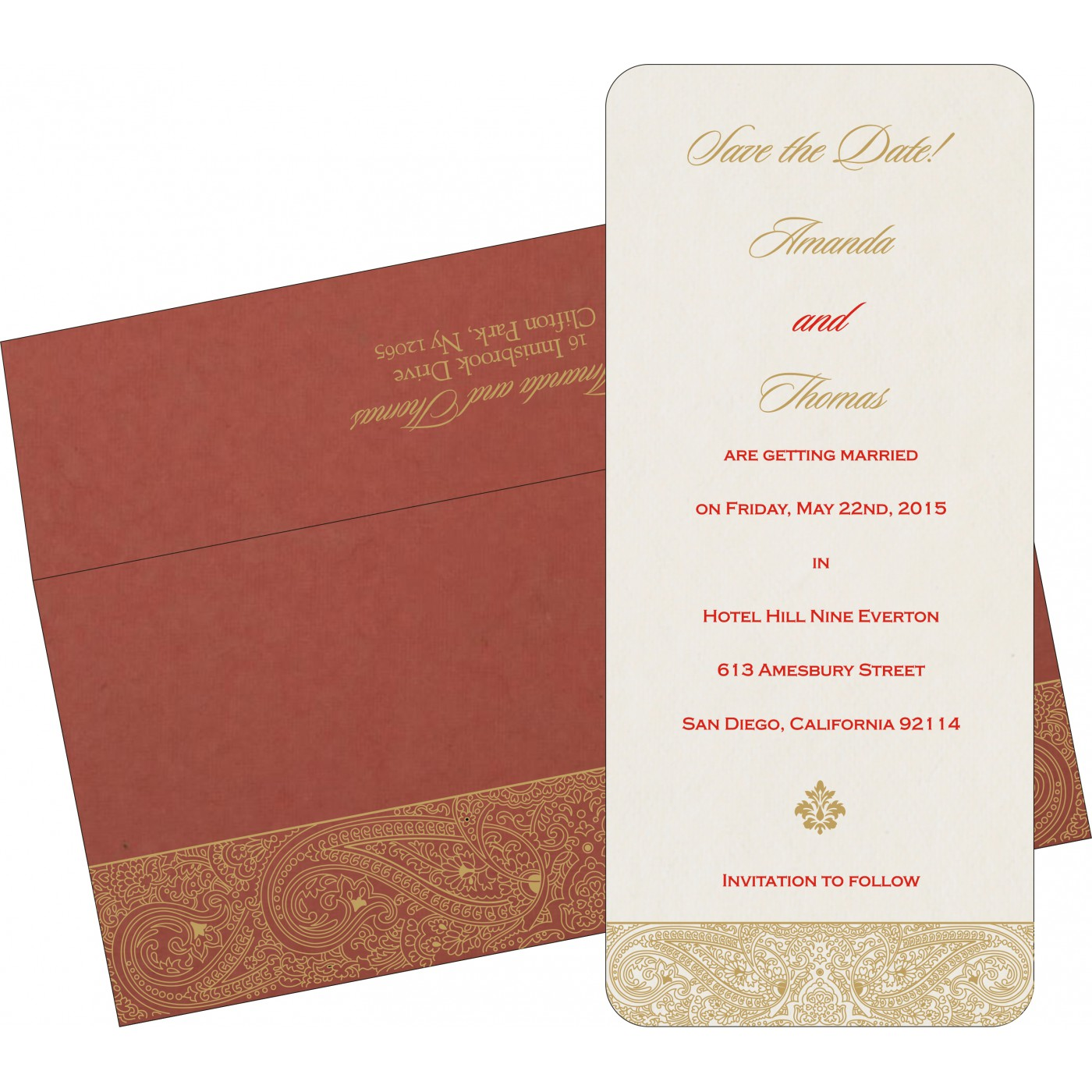 Save The Date Cards : STD-8234L - 123WeddingCards