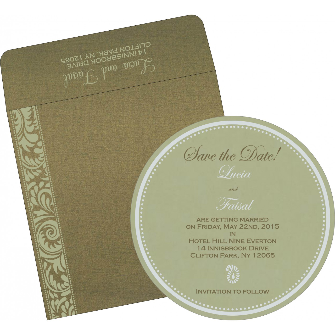 Save The Date Cards : STD-8235A - 123WeddingCards