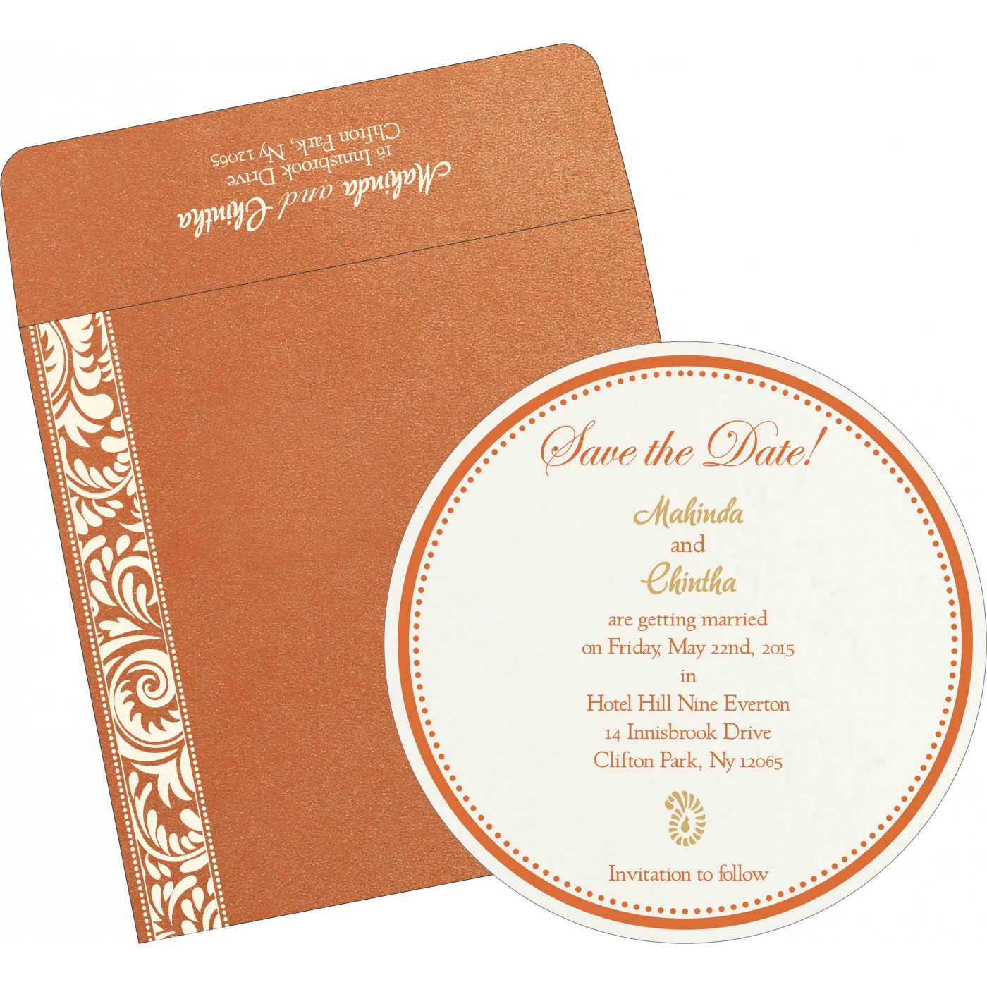 Save The Date Cards : STD-8235G - 123WeddingCards