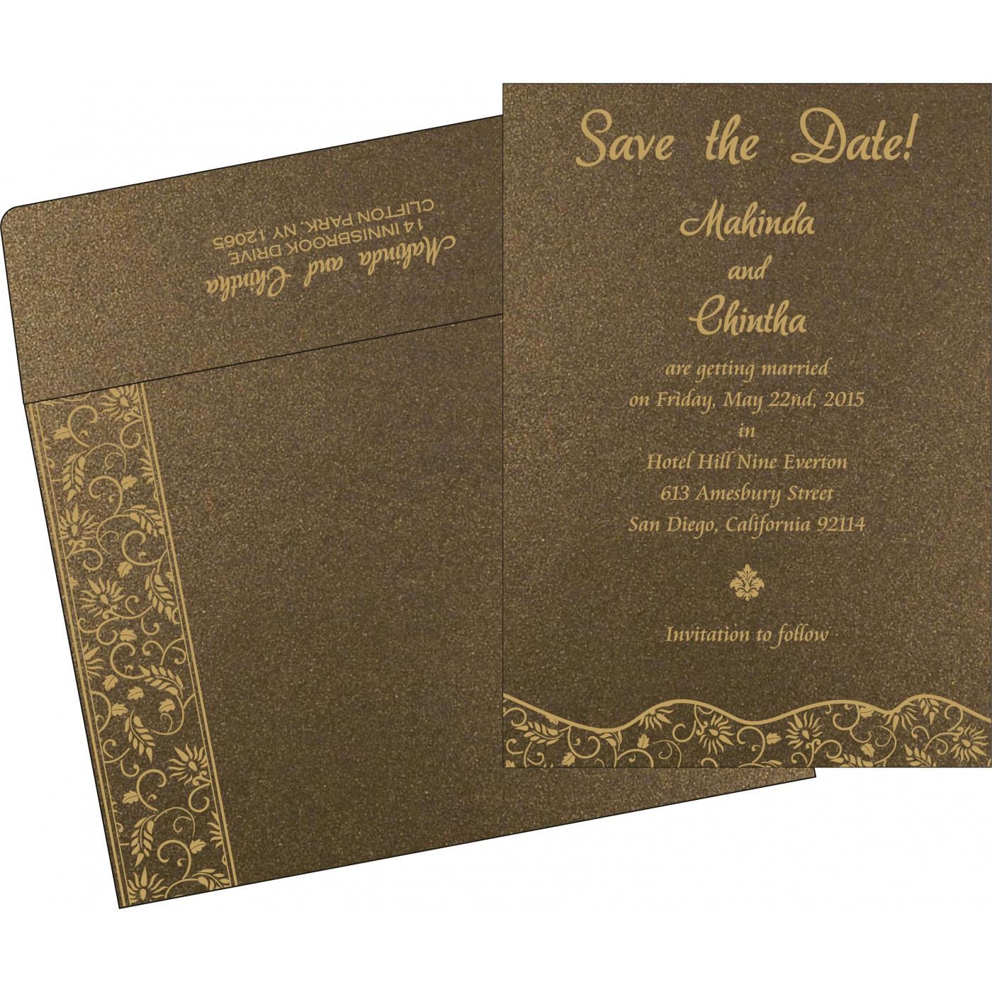 Save The Date Cards : STD-8236I - 123WeddingCards