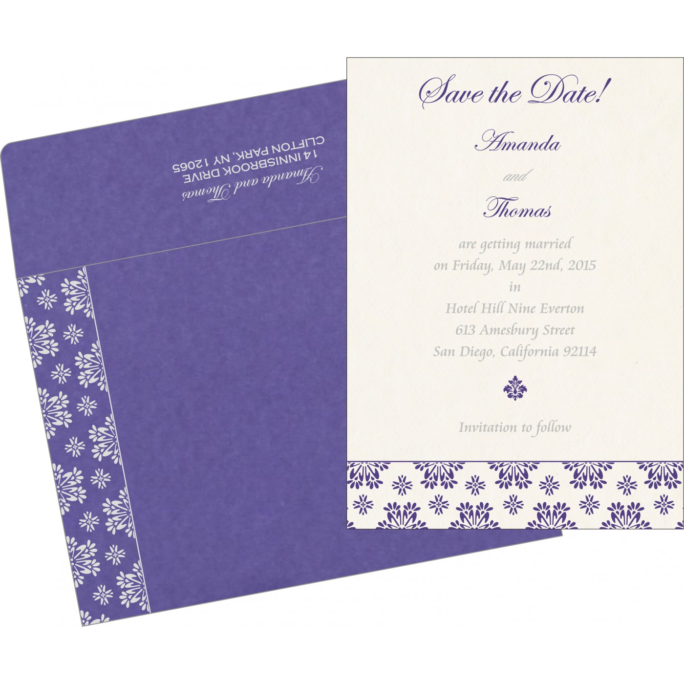 Save The Date Cards : STD-8237A - 123WeddingCards