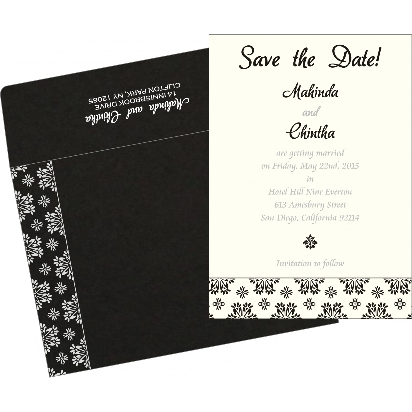 Save The Date Cards : STD-8237H - 123WeddingCards