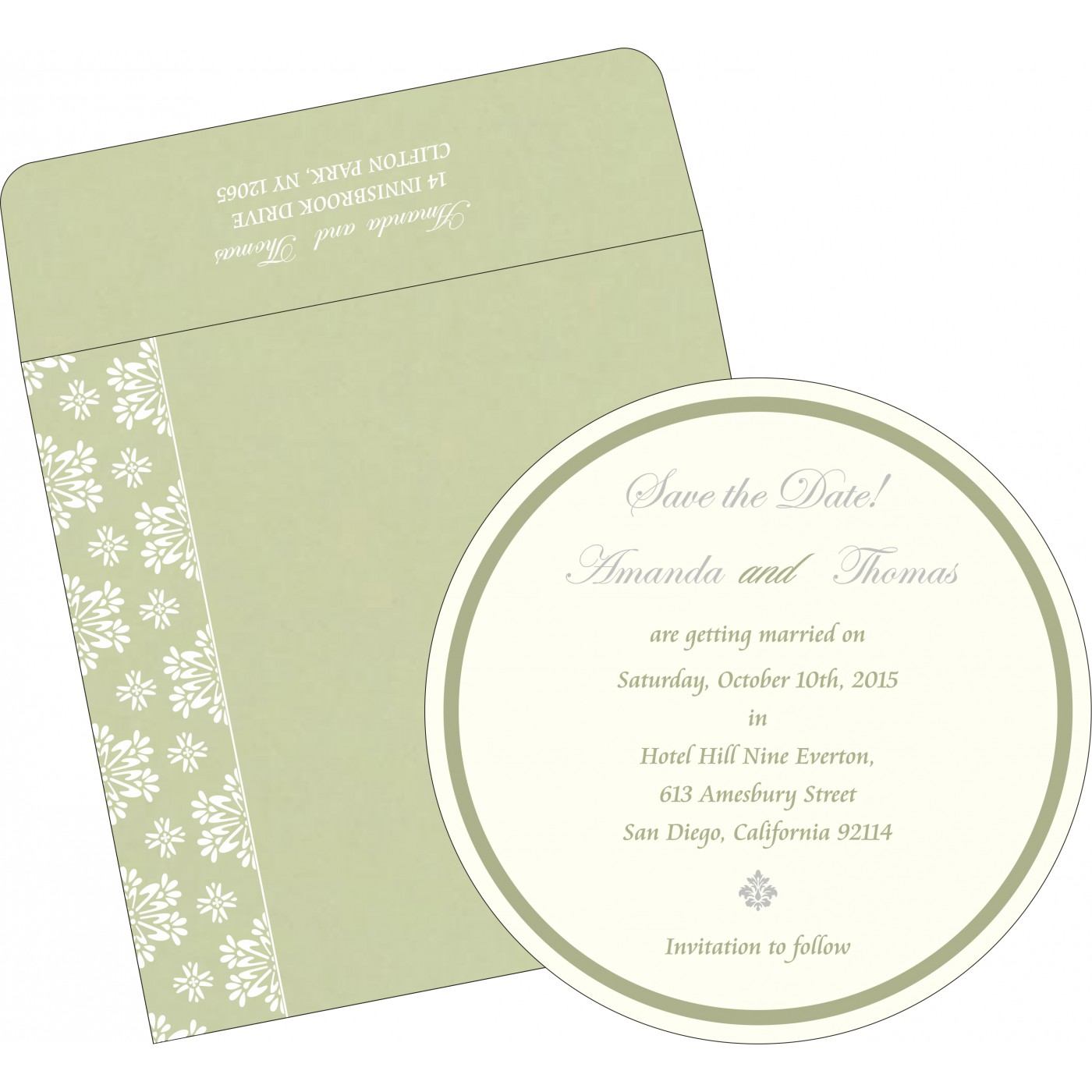 Save The Date Cards : STD-8237I - 123WeddingCards