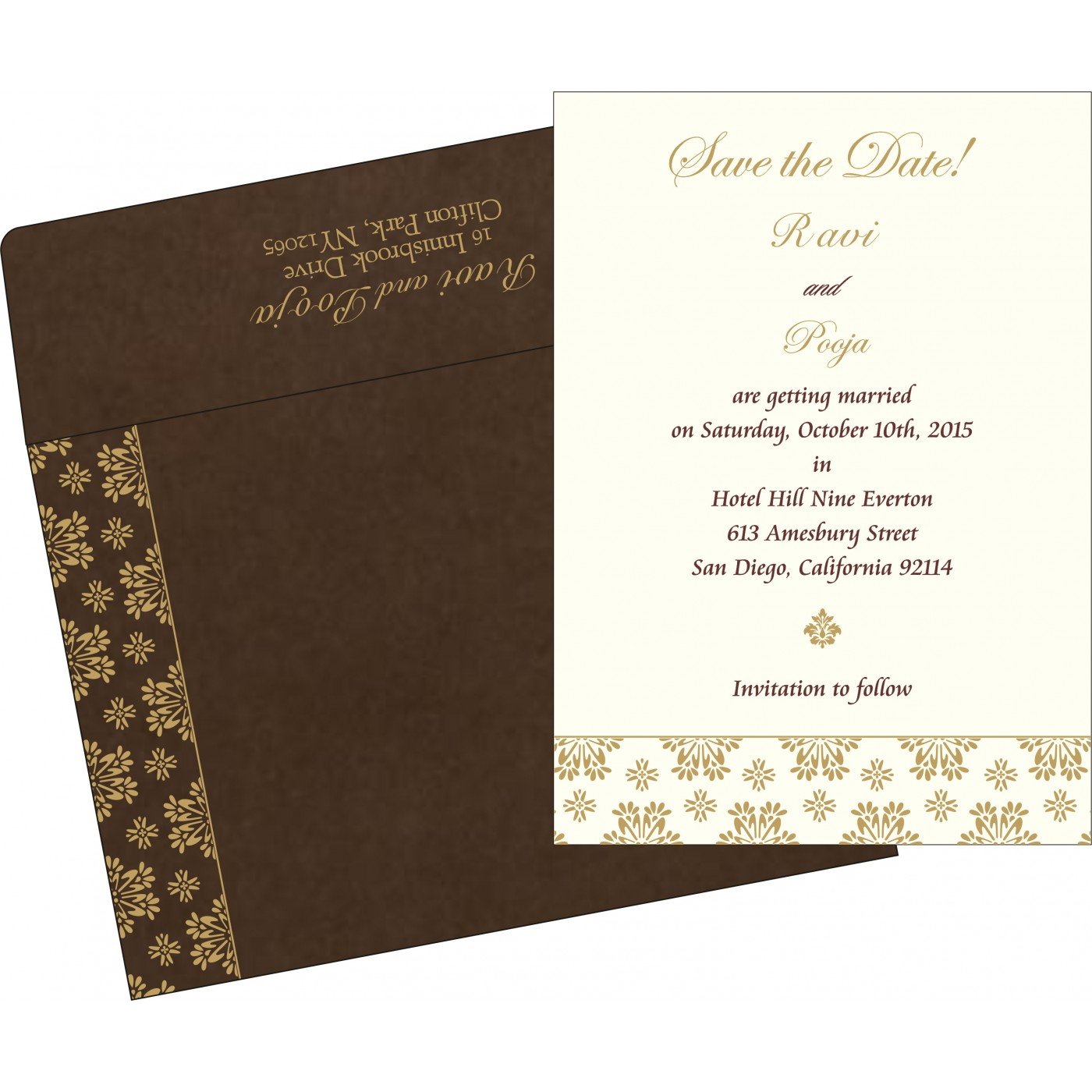 Save The Date Cards : STD-8237L - 123WeddingCards