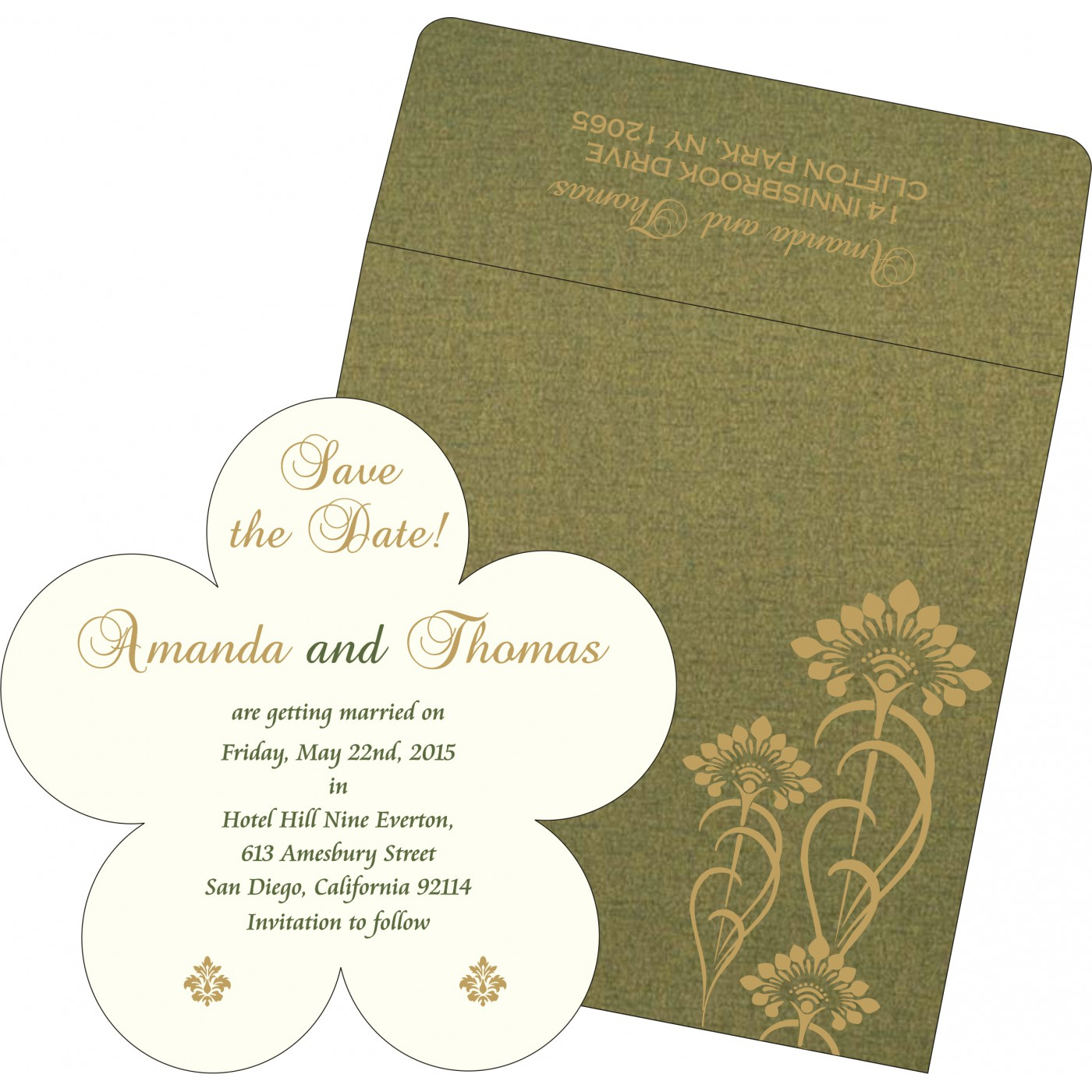 Save The Date Cards : STD-8239F - 123WeddingCards