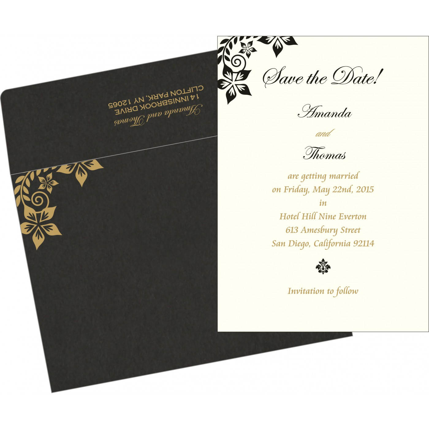 Save The Date Cards : STD-8240A - 123WeddingCards