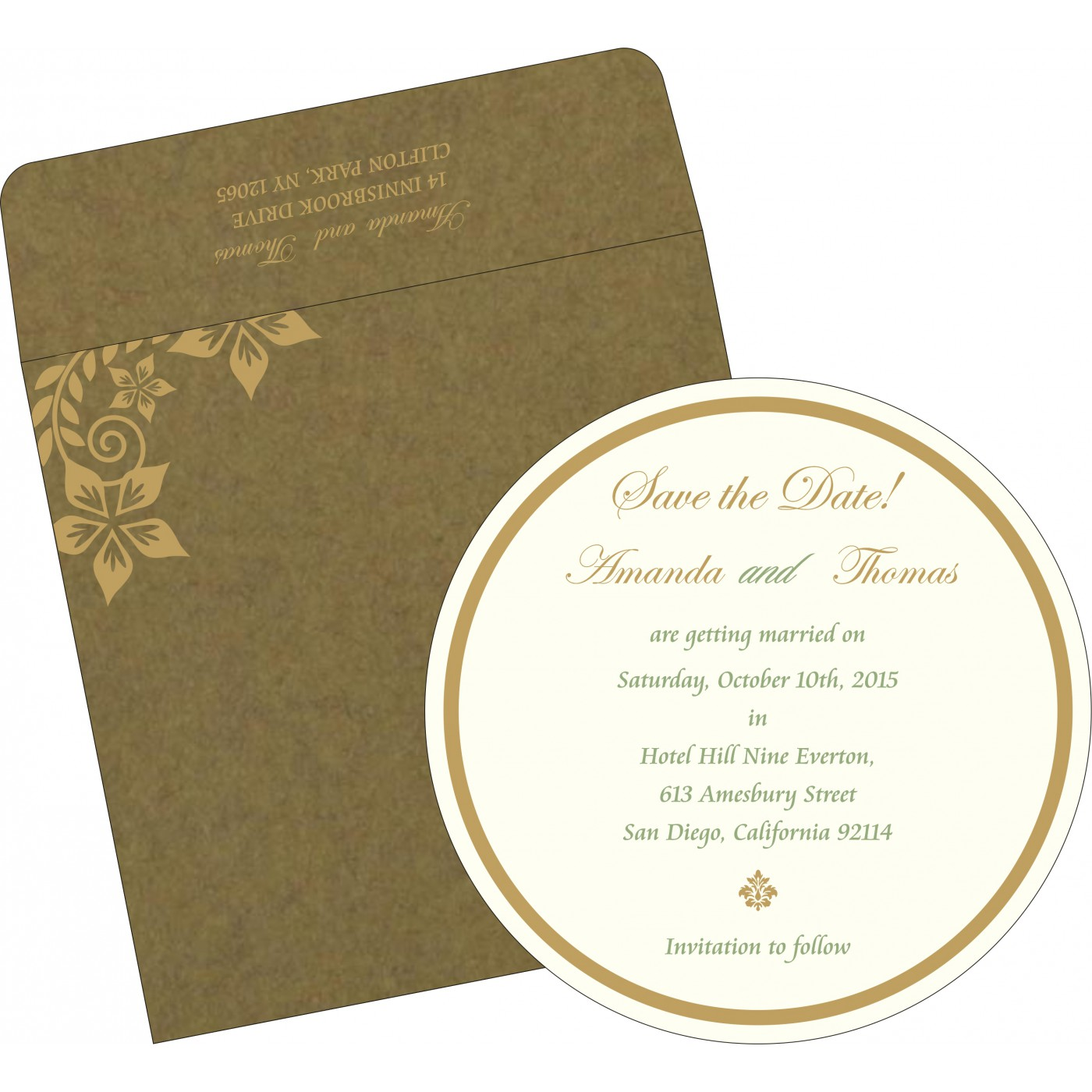 Save The Date Cards : STD-8240F - 123WeddingCards