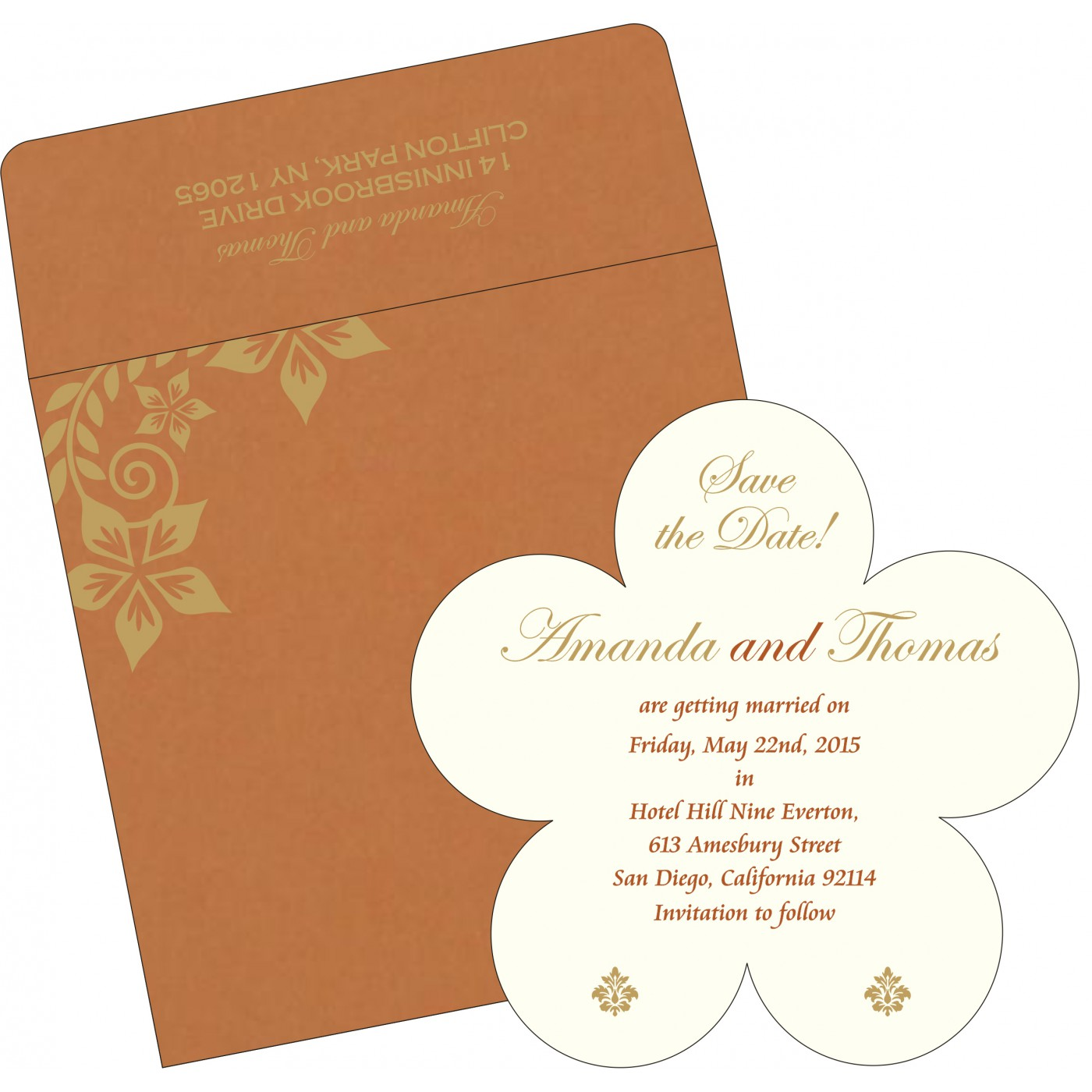 Save The Date Cards : STD-8240L - 123WeddingCards