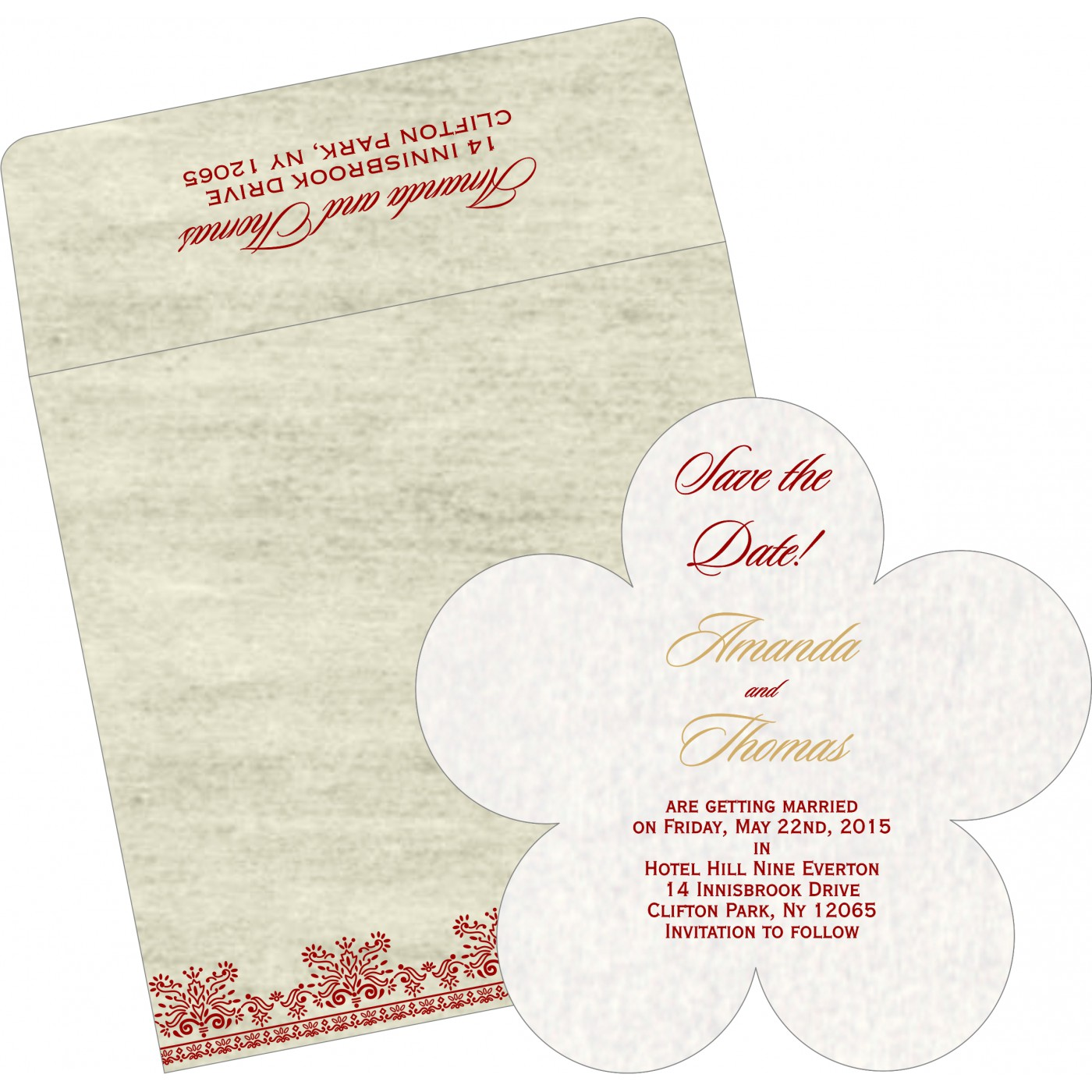 Save The Date Cards : STD-8241B - 123WeddingCards