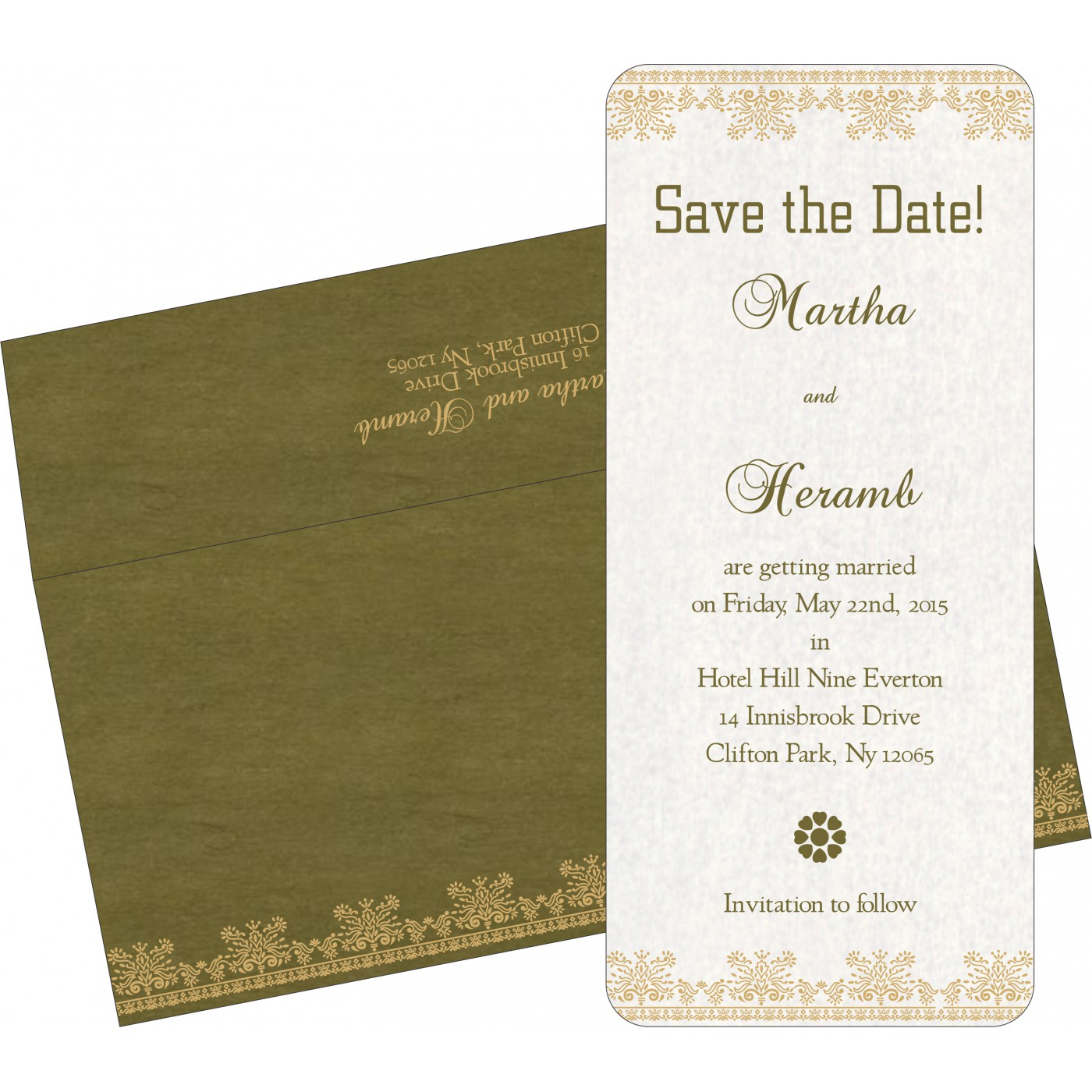 Save The Date Cards : STD-8241L - 123WeddingCards