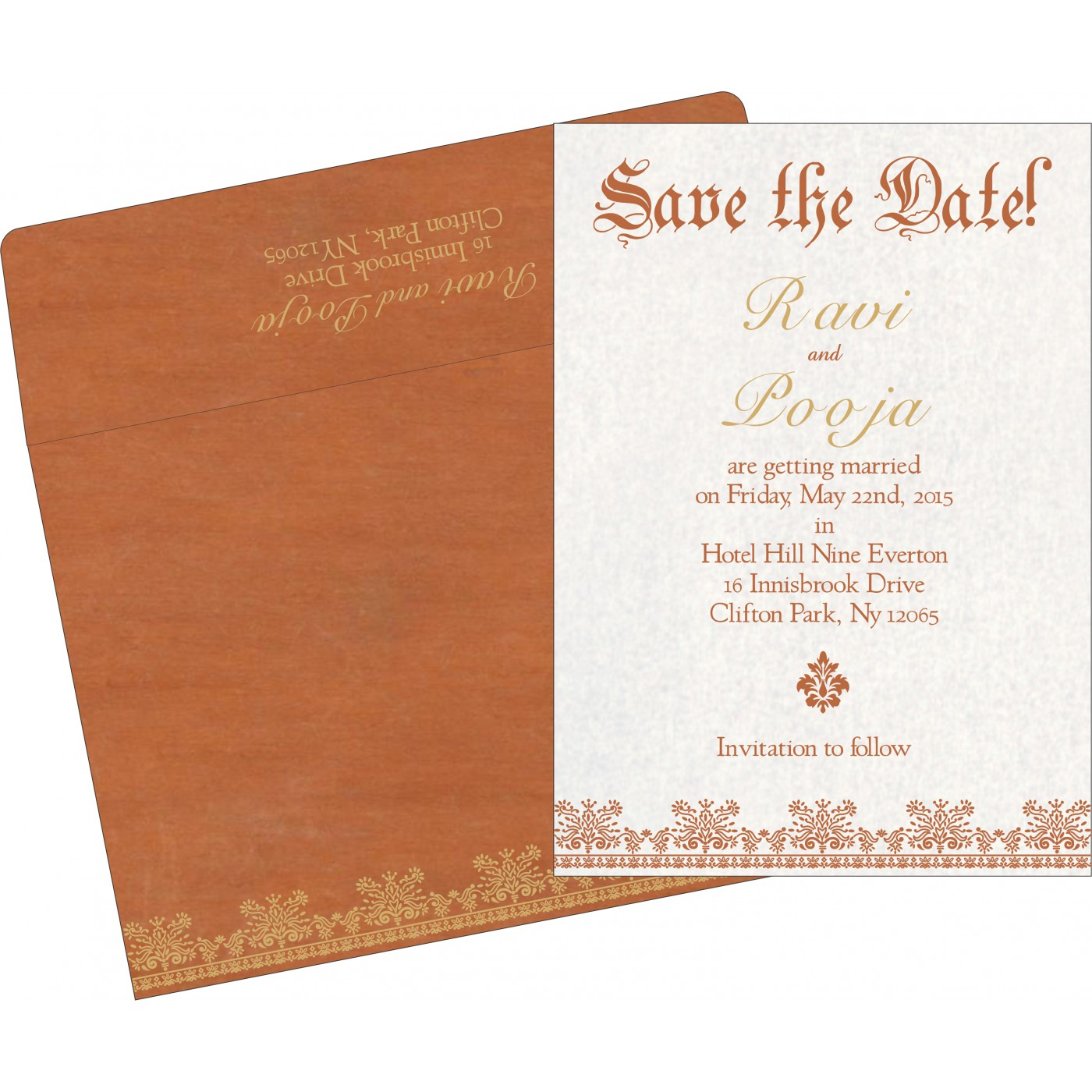 Save The Date Cards : STD-8241M - 123WeddingCards