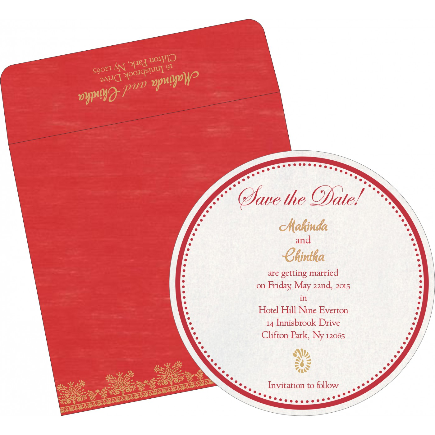 Save The Date Cards : STD-8241Q - 123WeddingCards