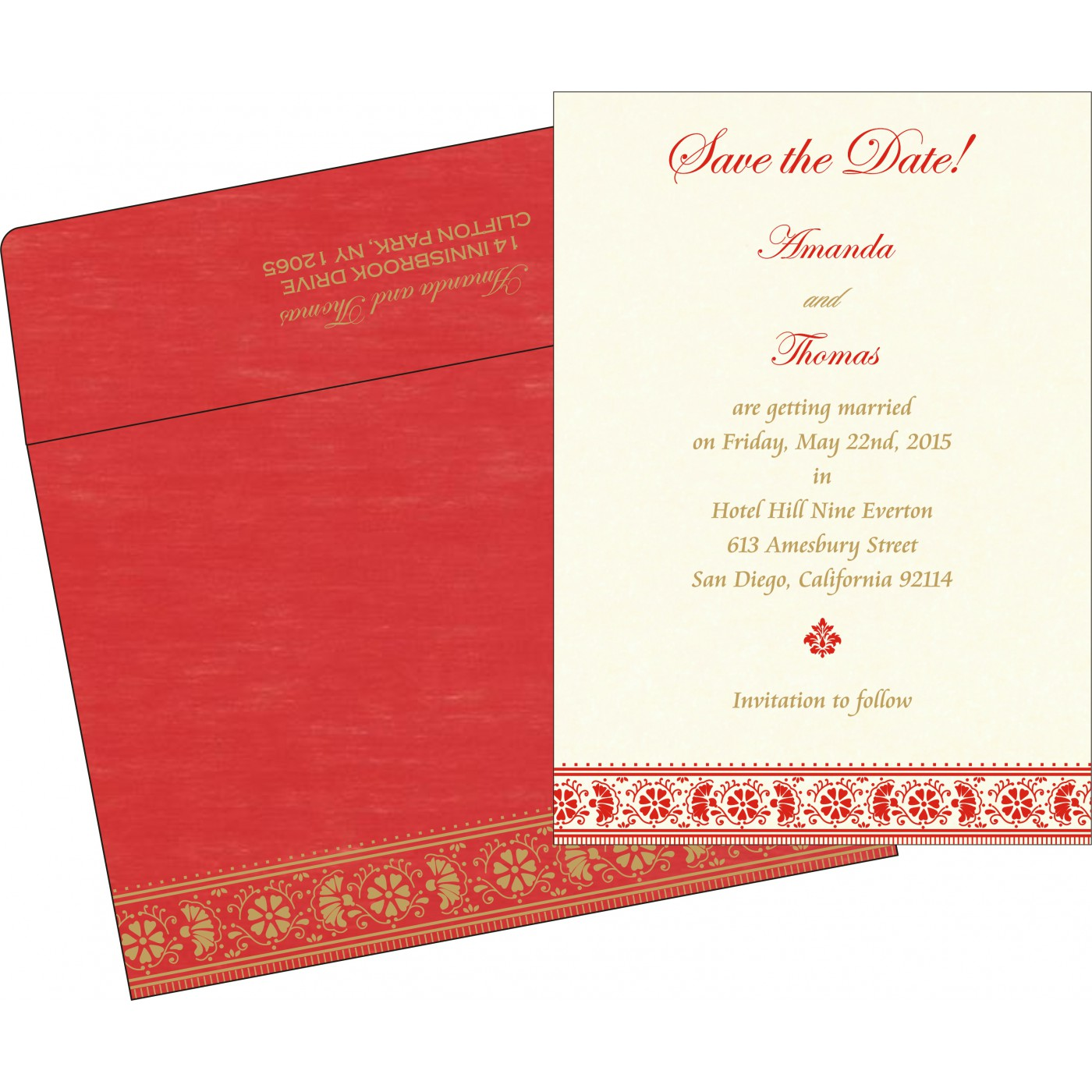 Save The Date Cards : STD-8242A - 123WeddingCards