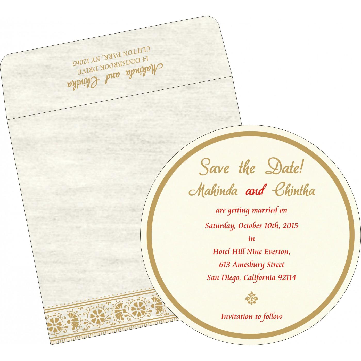 Save The Date Cards : STD-8242M - 123WeddingCards
