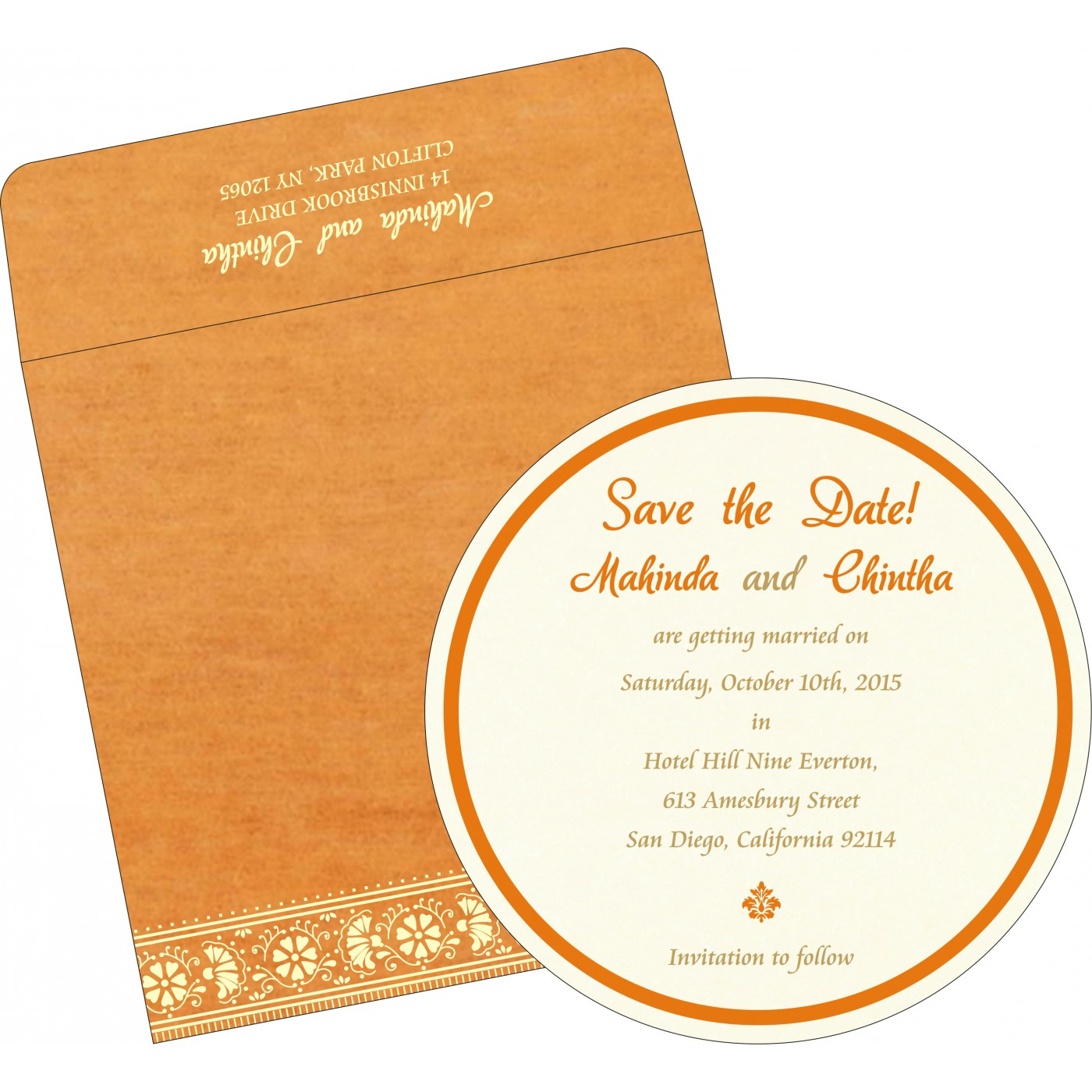 Save The Date Cards : STD-8242Q - 123WeddingCards