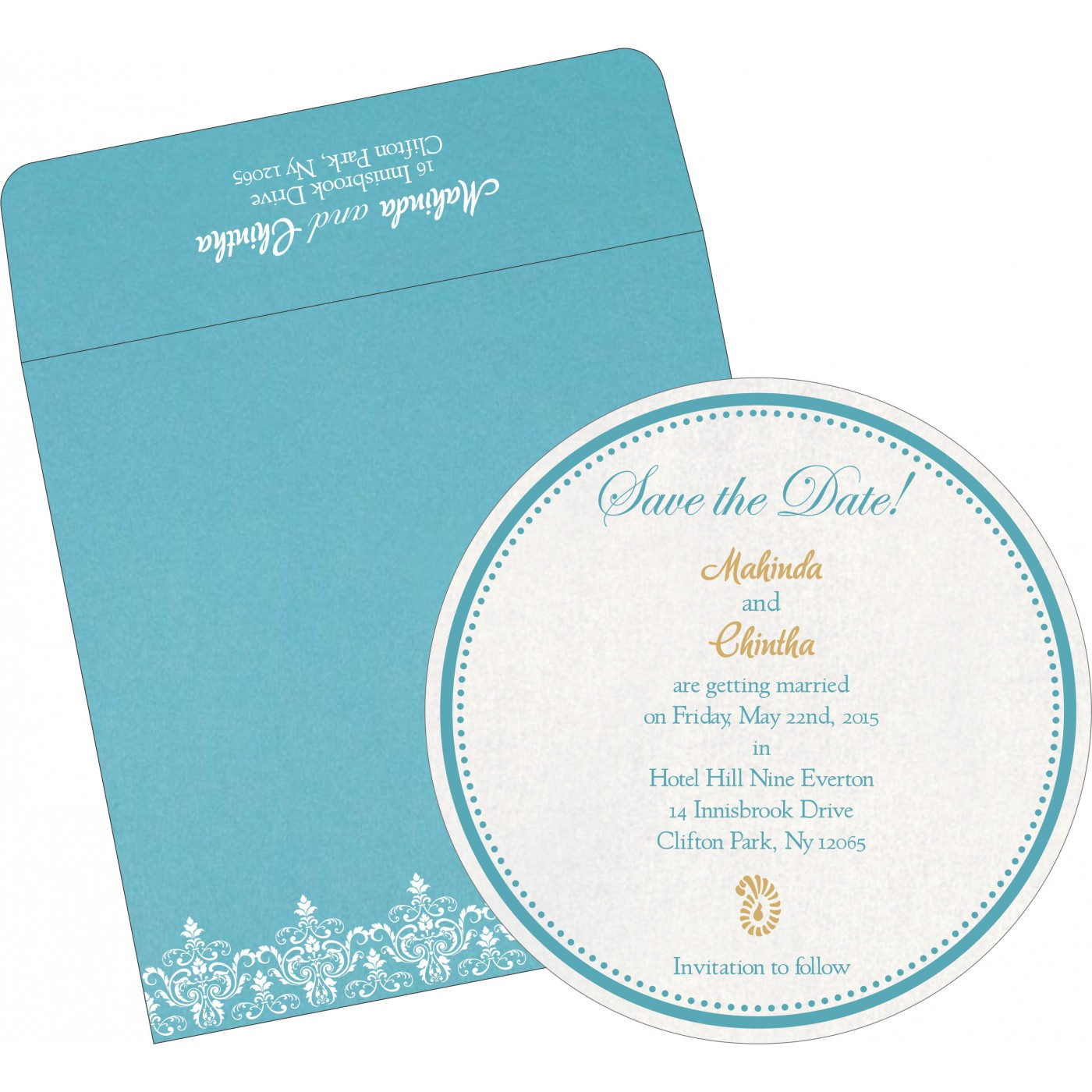Save The Date Cards : STD-8244F - 123WeddingCards