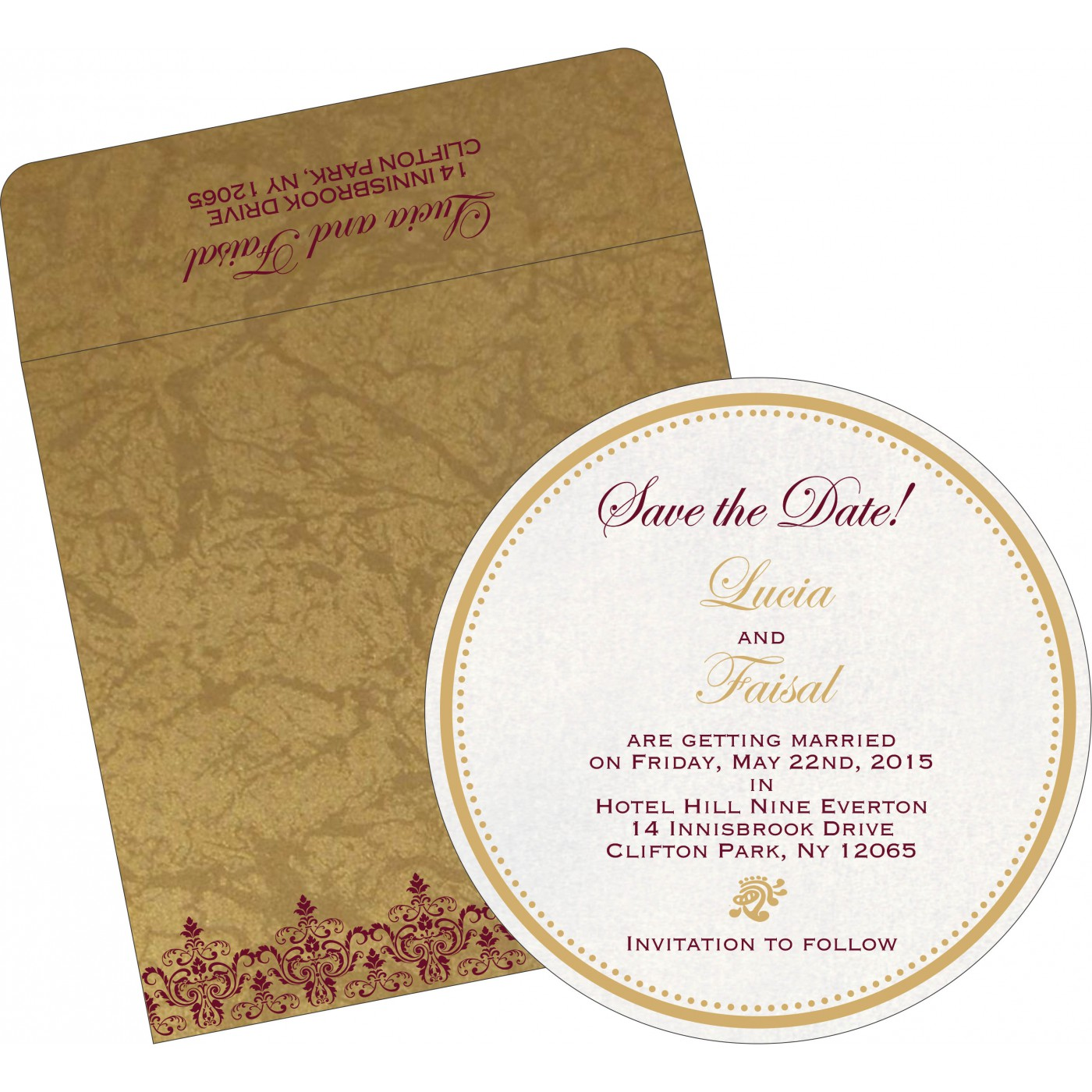 Save The Date Cards : STD-8244G - 123WeddingCards