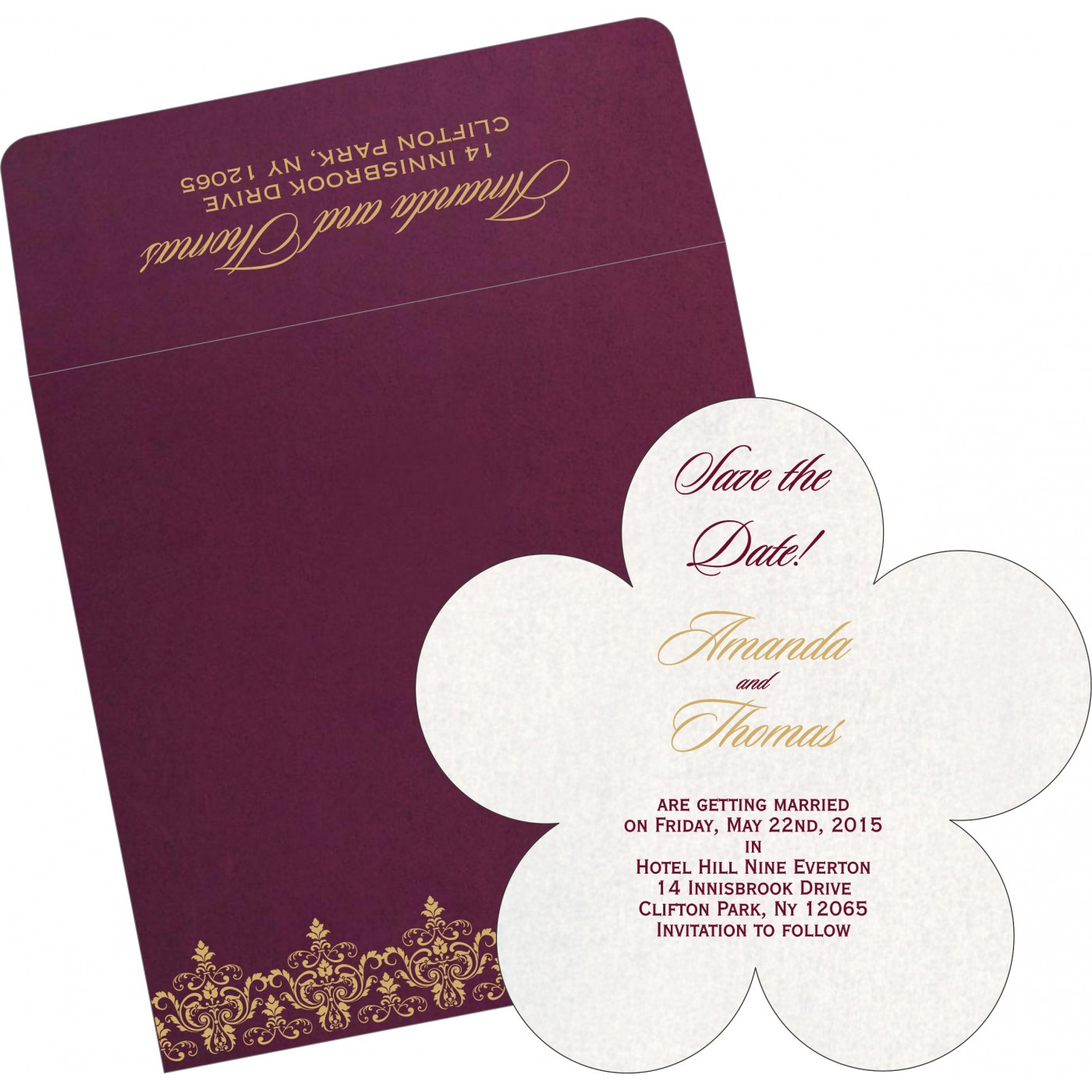 Save The Date Cards : STD-8244H - 123WeddingCards
