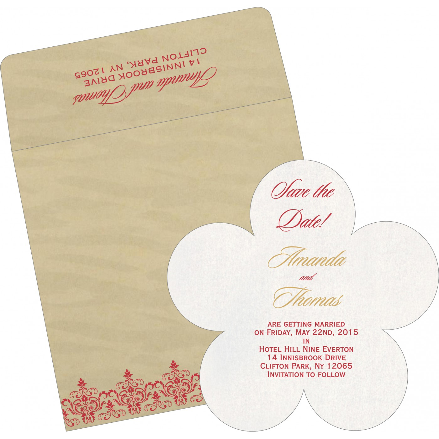 Save The Date Cards : STD-8244J - 123WeddingCards