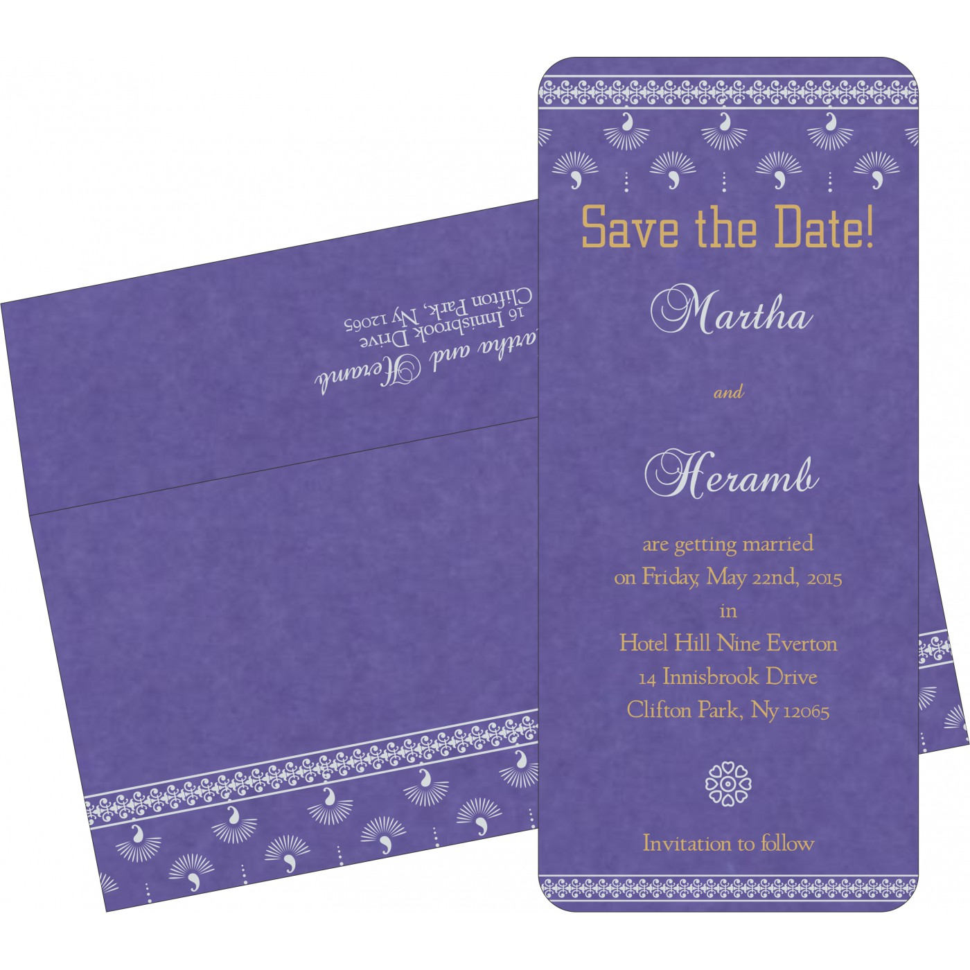 Save The Date Cards : STD-8247C - 123WeddingCards