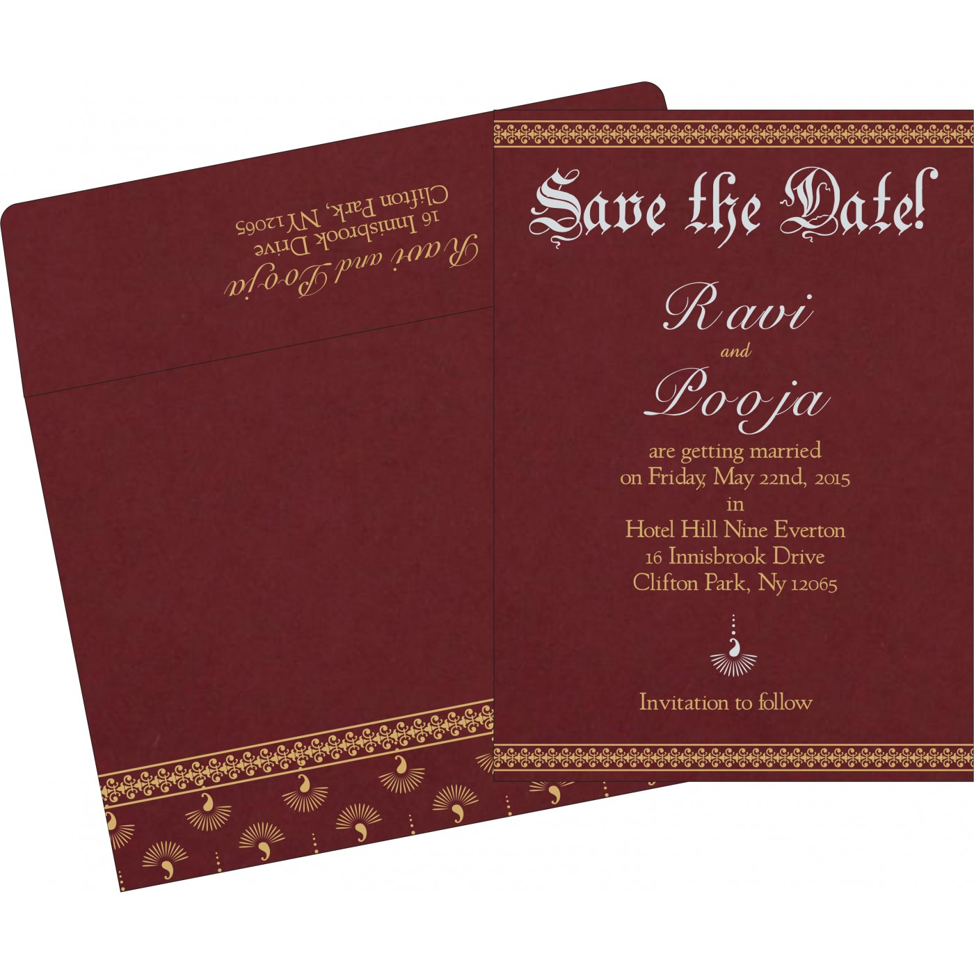 Save The Date Cards : STD-8247D - 123WeddingCards