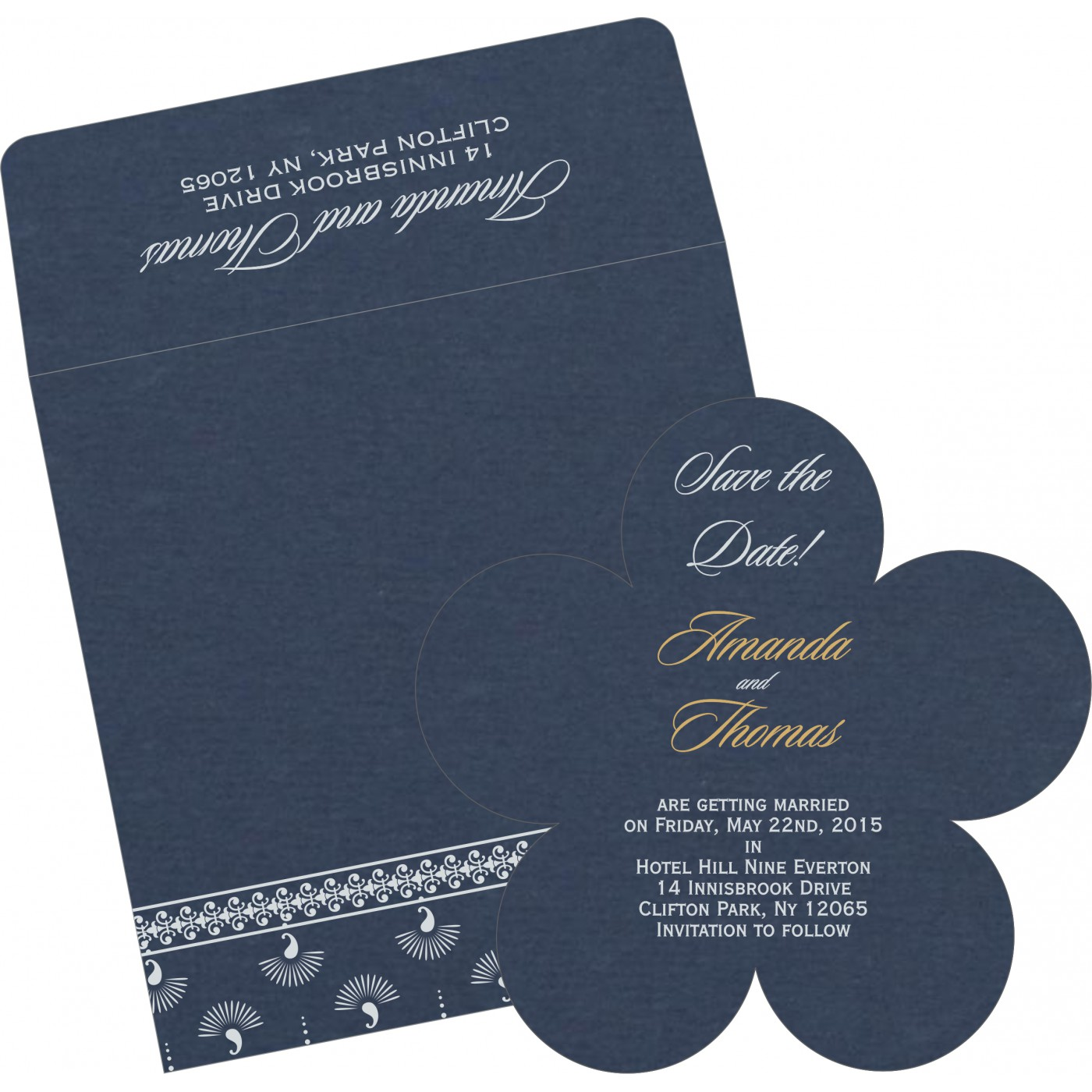 Save The Date Cards : STD-8247G - 123WeddingCards