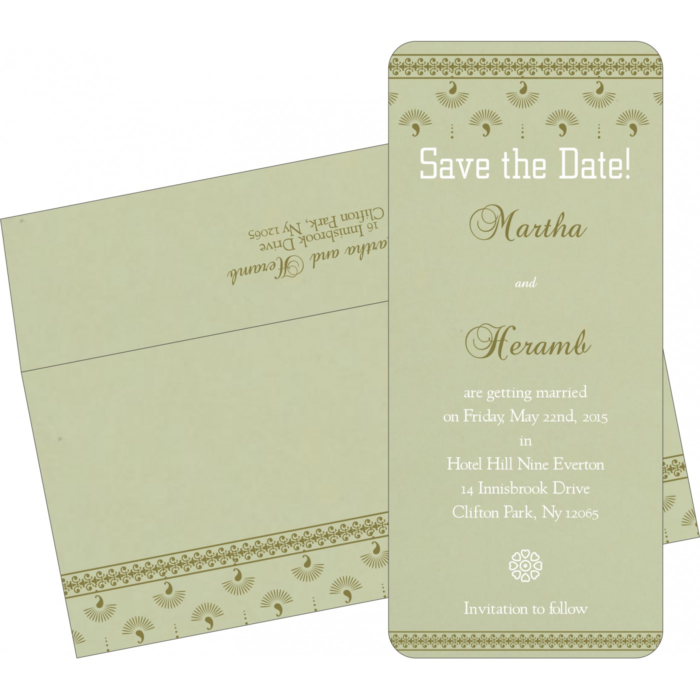 Save The Date Cards : STD-8247L - 123WeddingCards