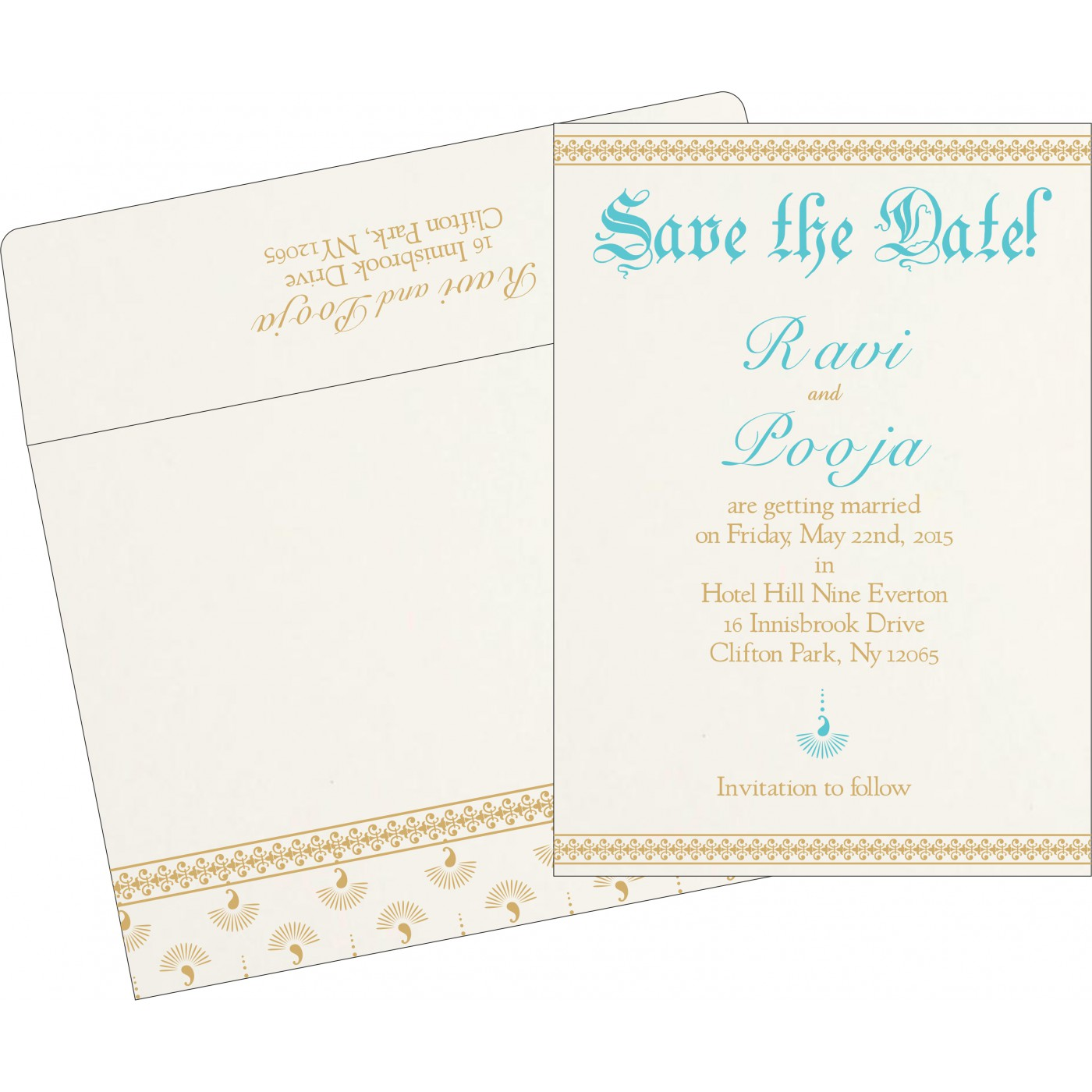 Save The Date Cards : STD-8247M - 123WeddingCards