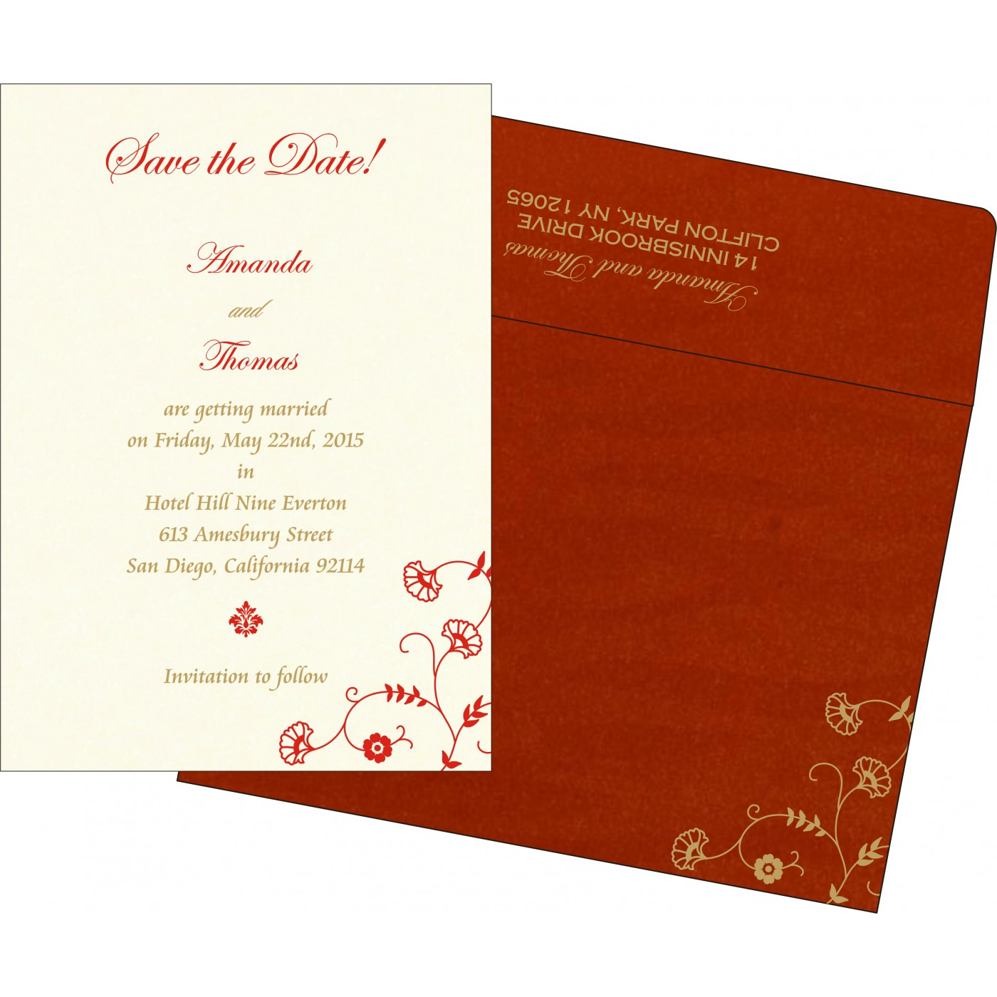 Save The Date Cards : STD-8248A - 123WeddingCards