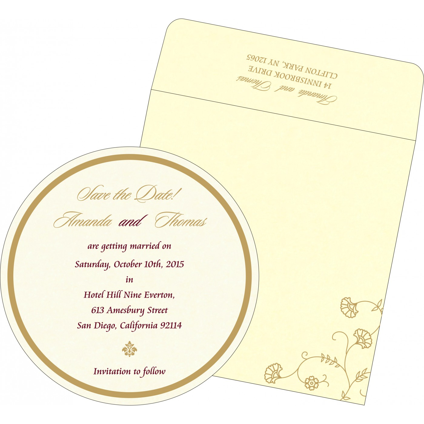 Save The Date Cards : STD-8248B - 123WeddingCards