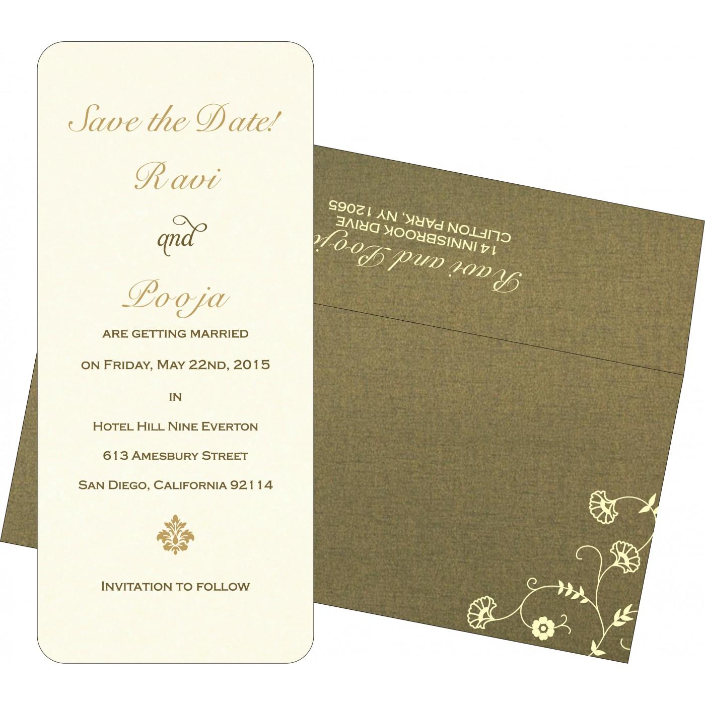Save The Date Cards : STD-8248D - 123WeddingCards