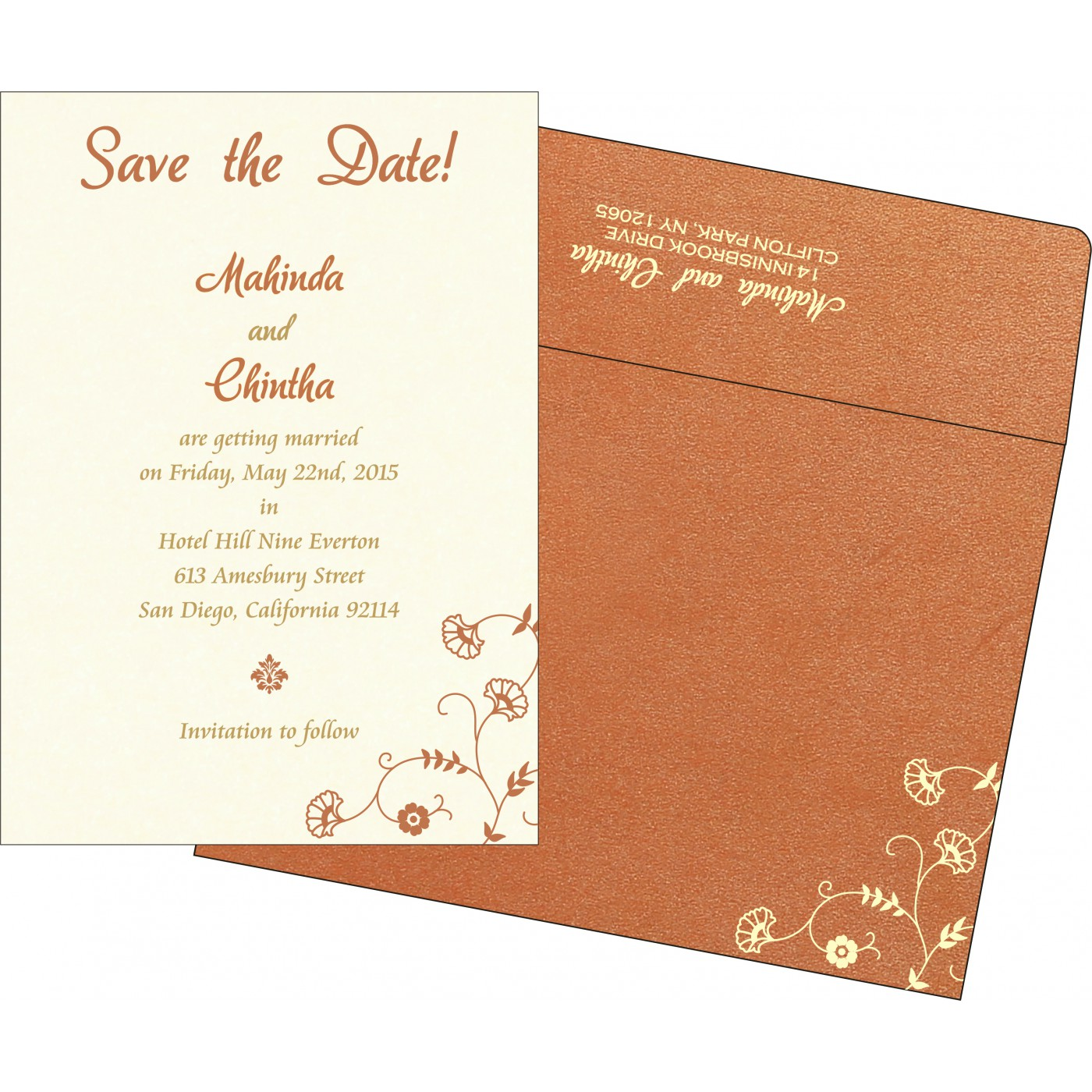 Save The Date Cards : STD-8248E - 123WeddingCards
