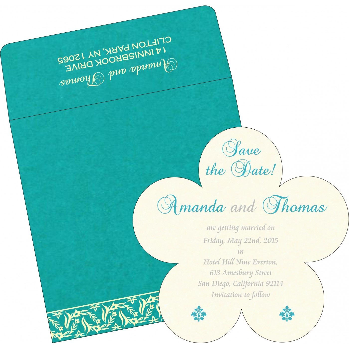 Save The Date Cards : STD-8249D - 123WeddingCards