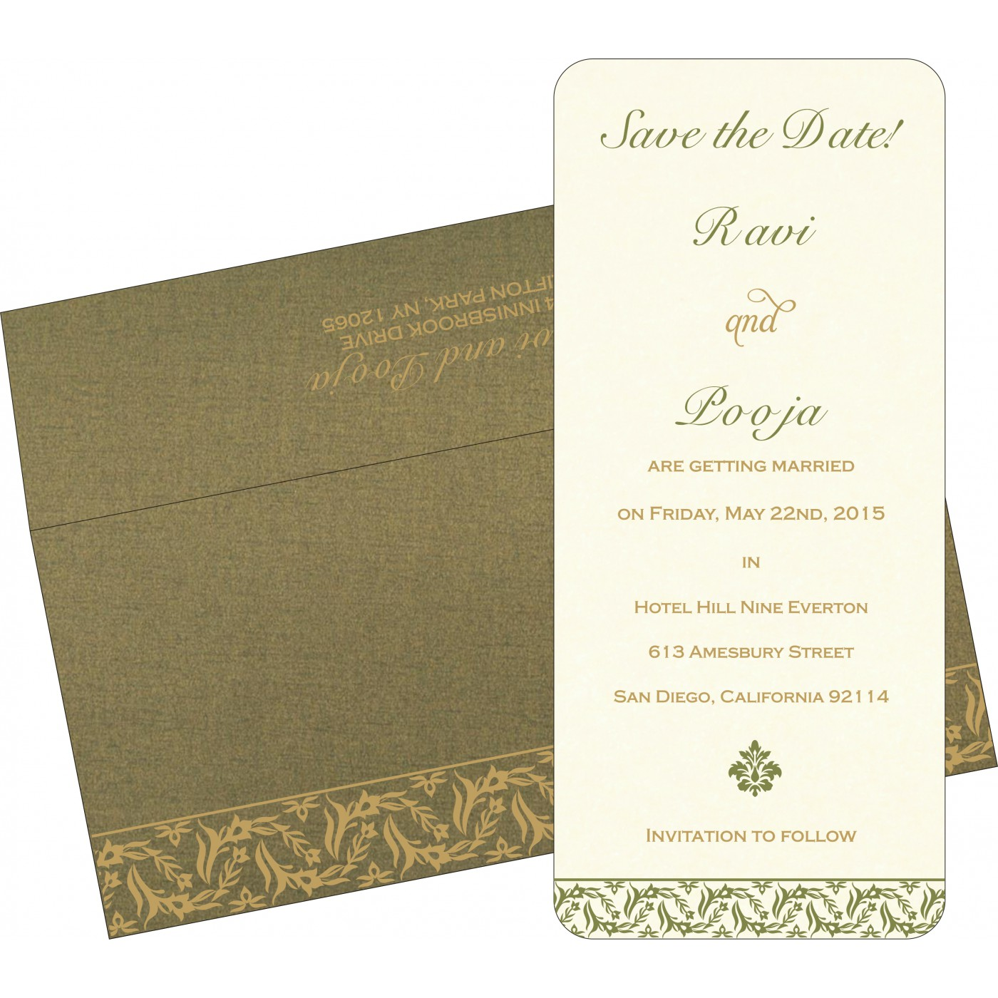 Save The Date Cards : STD-8249E - 123WeddingCards