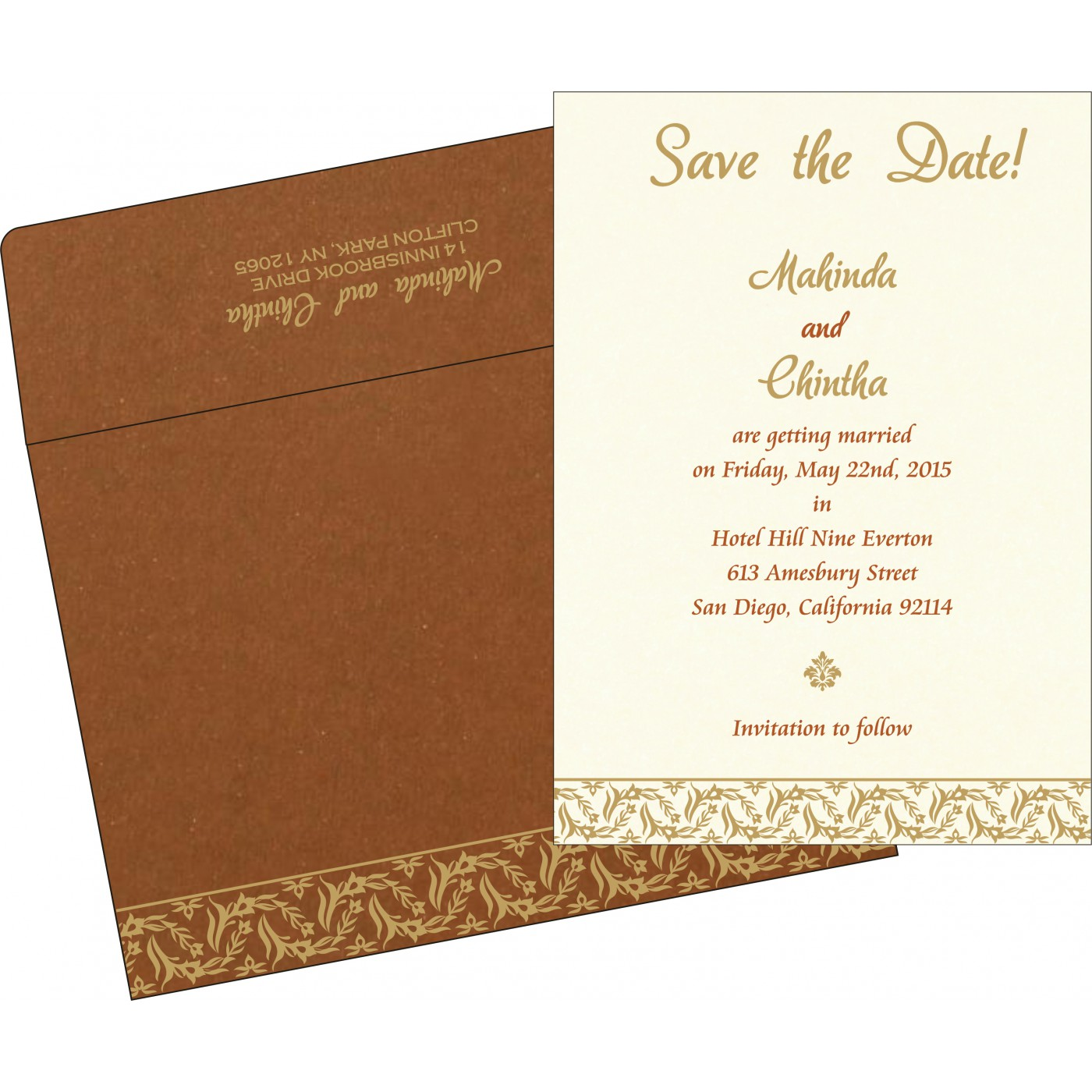 Save The Date Cards : STD-8249F - 123WeddingCards