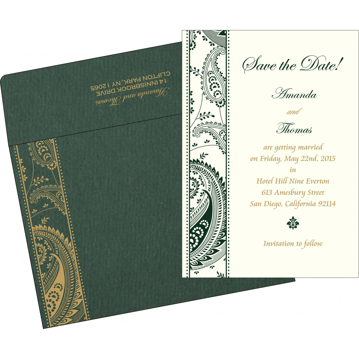 Save The Date Cards : STD-8250C - 123WeddingCards