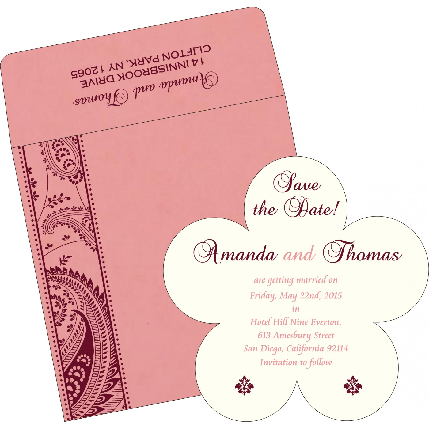 Save The Date Cards : STD-8250F - 123WeddingCards