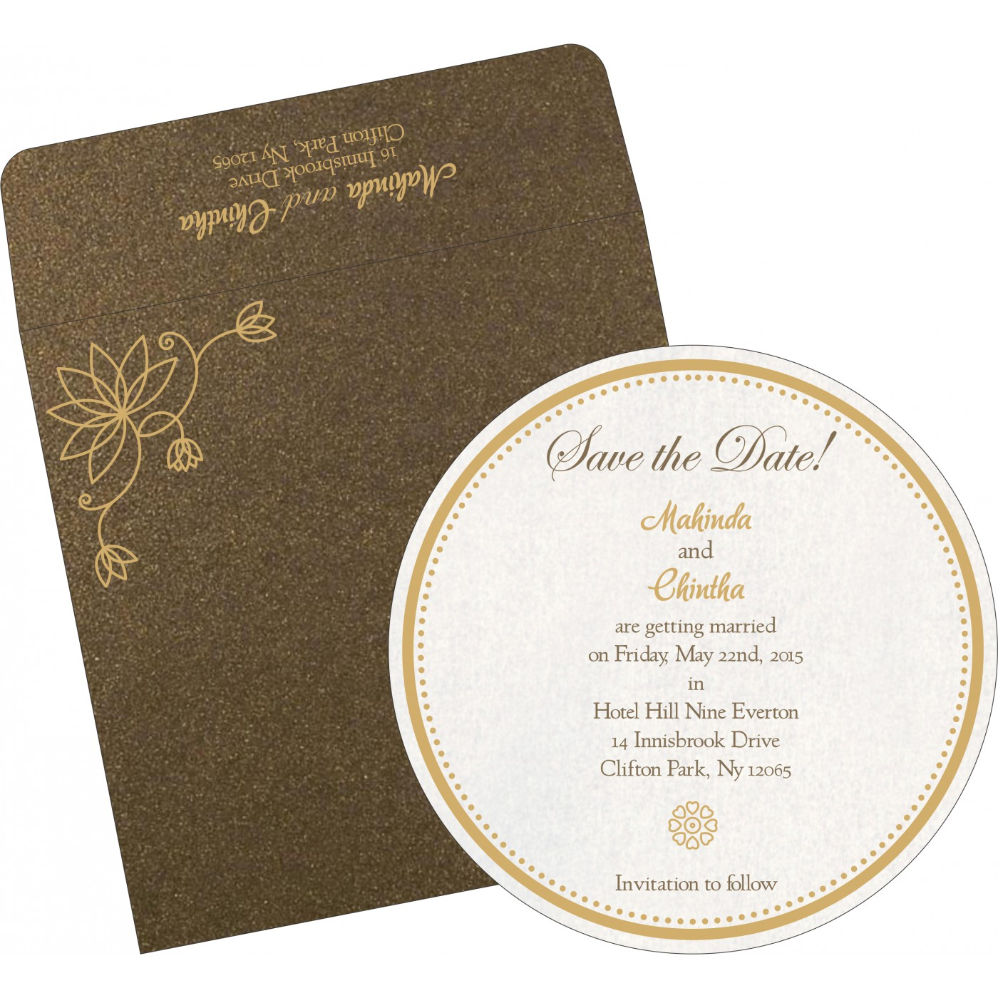 Save The Date Cards : STD-8251F - 123WeddingCards