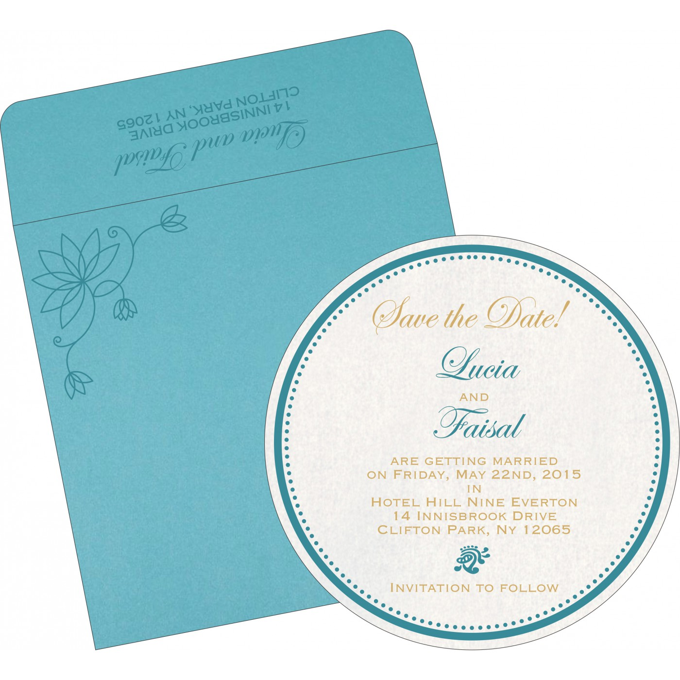 Save The Date Cards : STD-8251G - 123WeddingCards