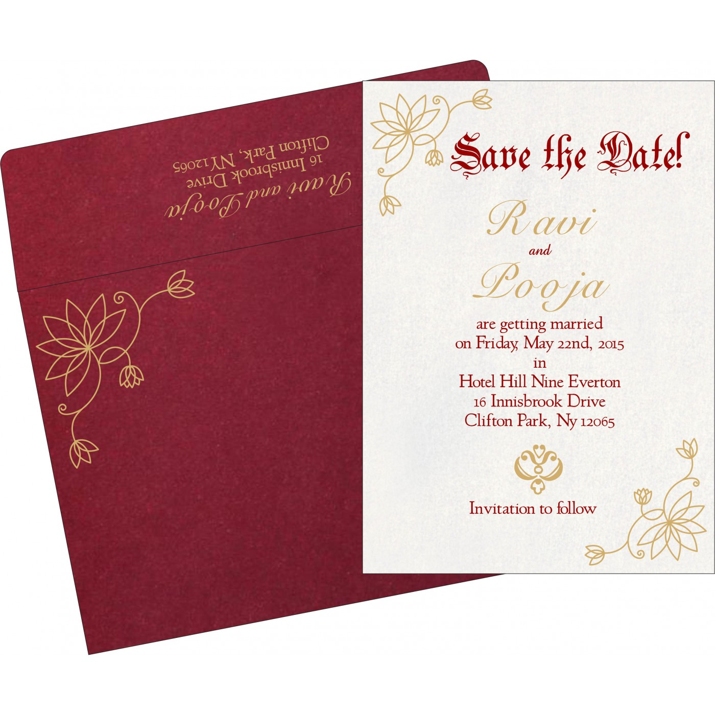 Save The Date Cards : STD-8251L - 123WeddingCards