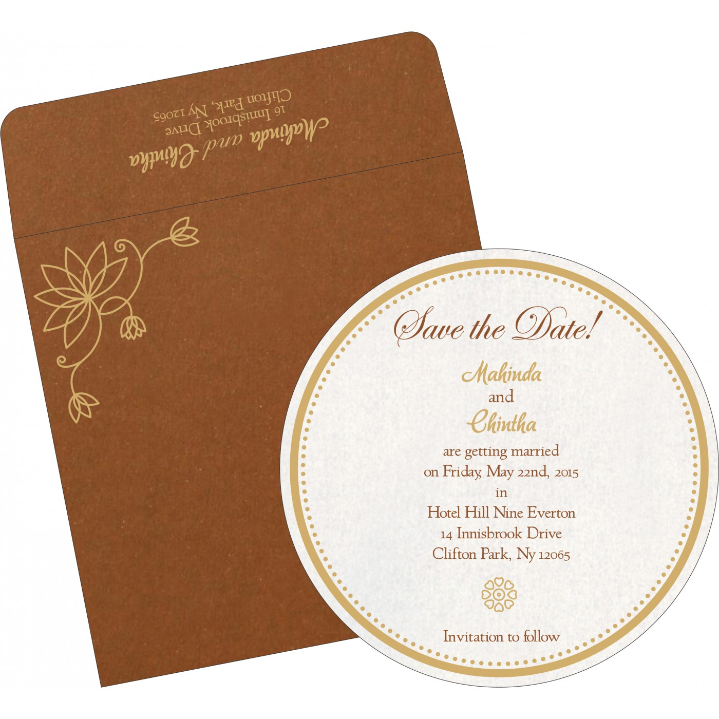 Save The Date Cards : STD-8251M - 123WeddingCards