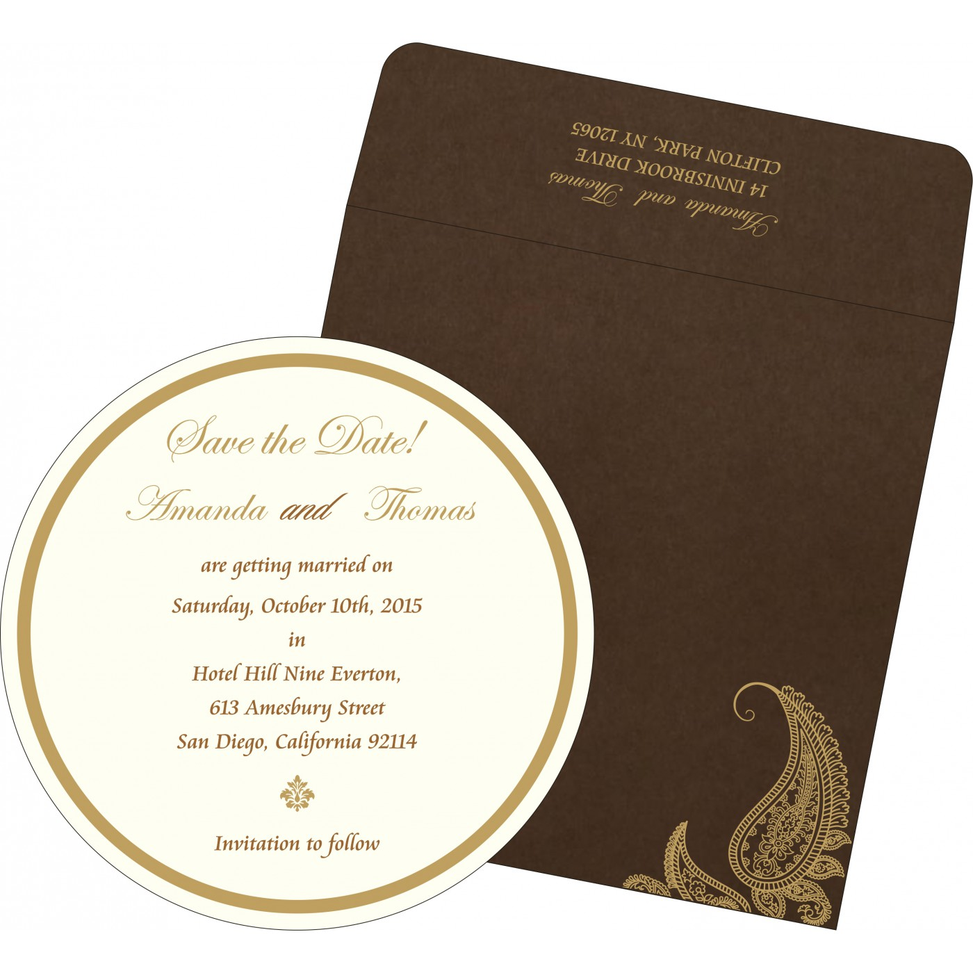 Save The Date Cards : STD-8252F - 123WeddingCards