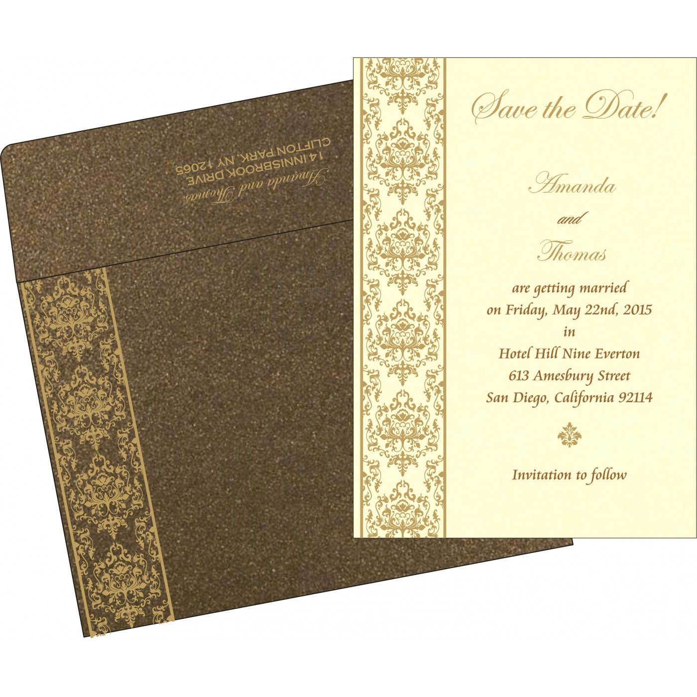 Save The Date Cards : STD-8253A - 123WeddingCards