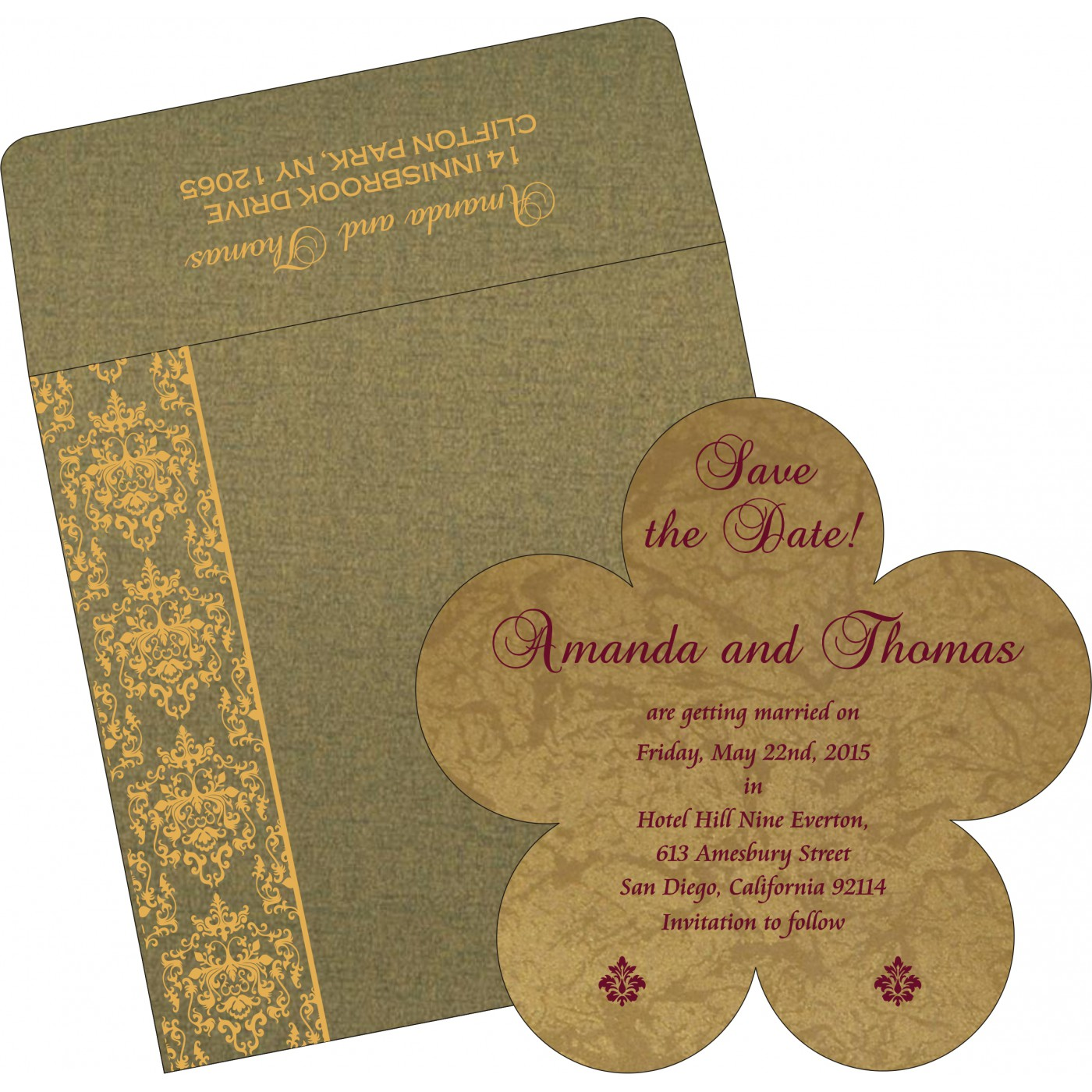 Save The Date Cards : STD-8253C - 123WeddingCards