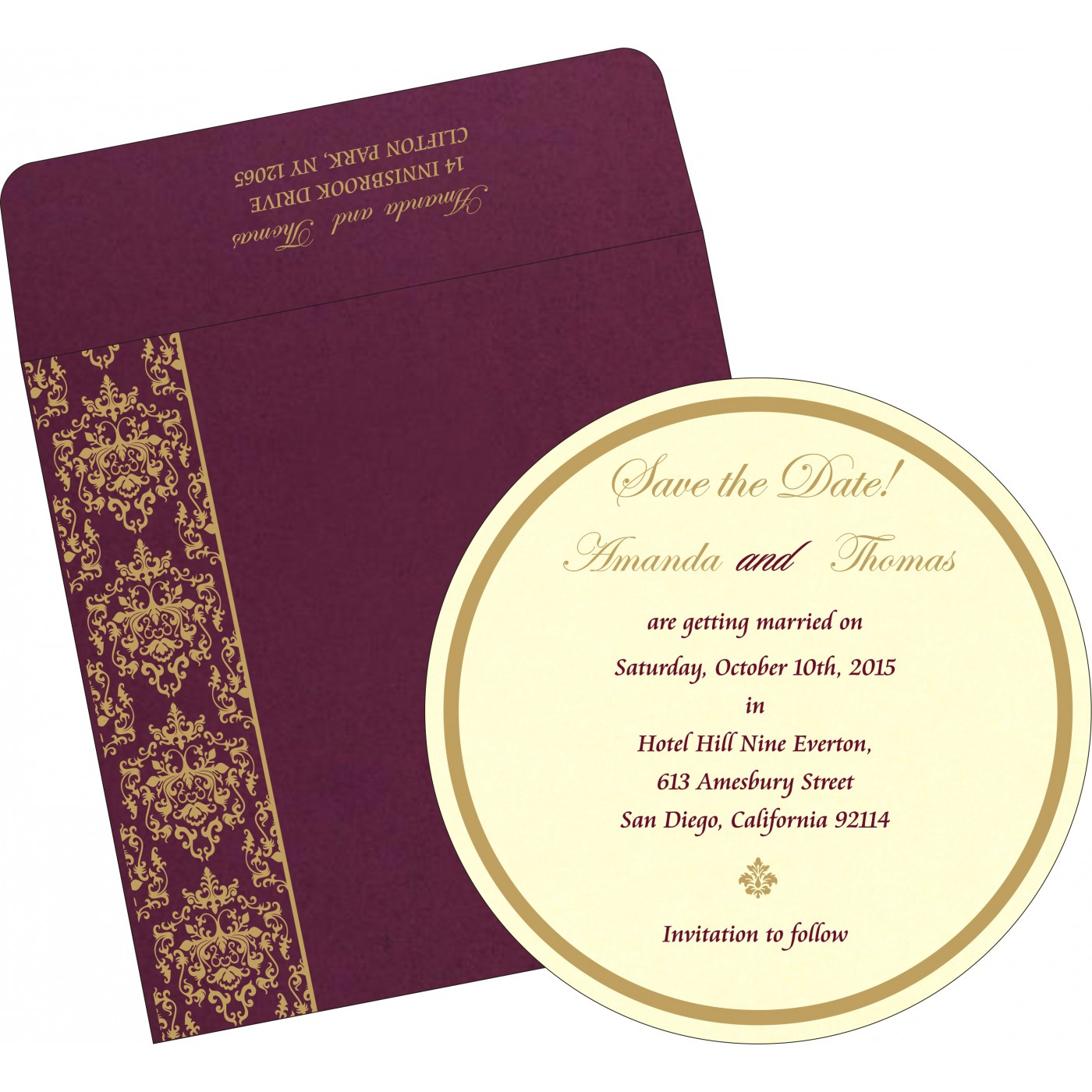 Save The Date Cards : STD-8253F - 123WeddingCards