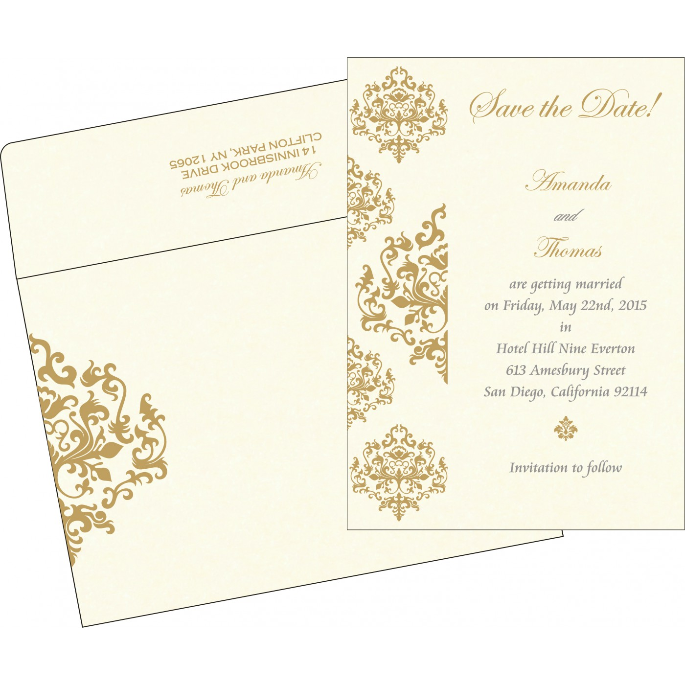 Save The Date Cards : STD-8254A - 123WeddingCards